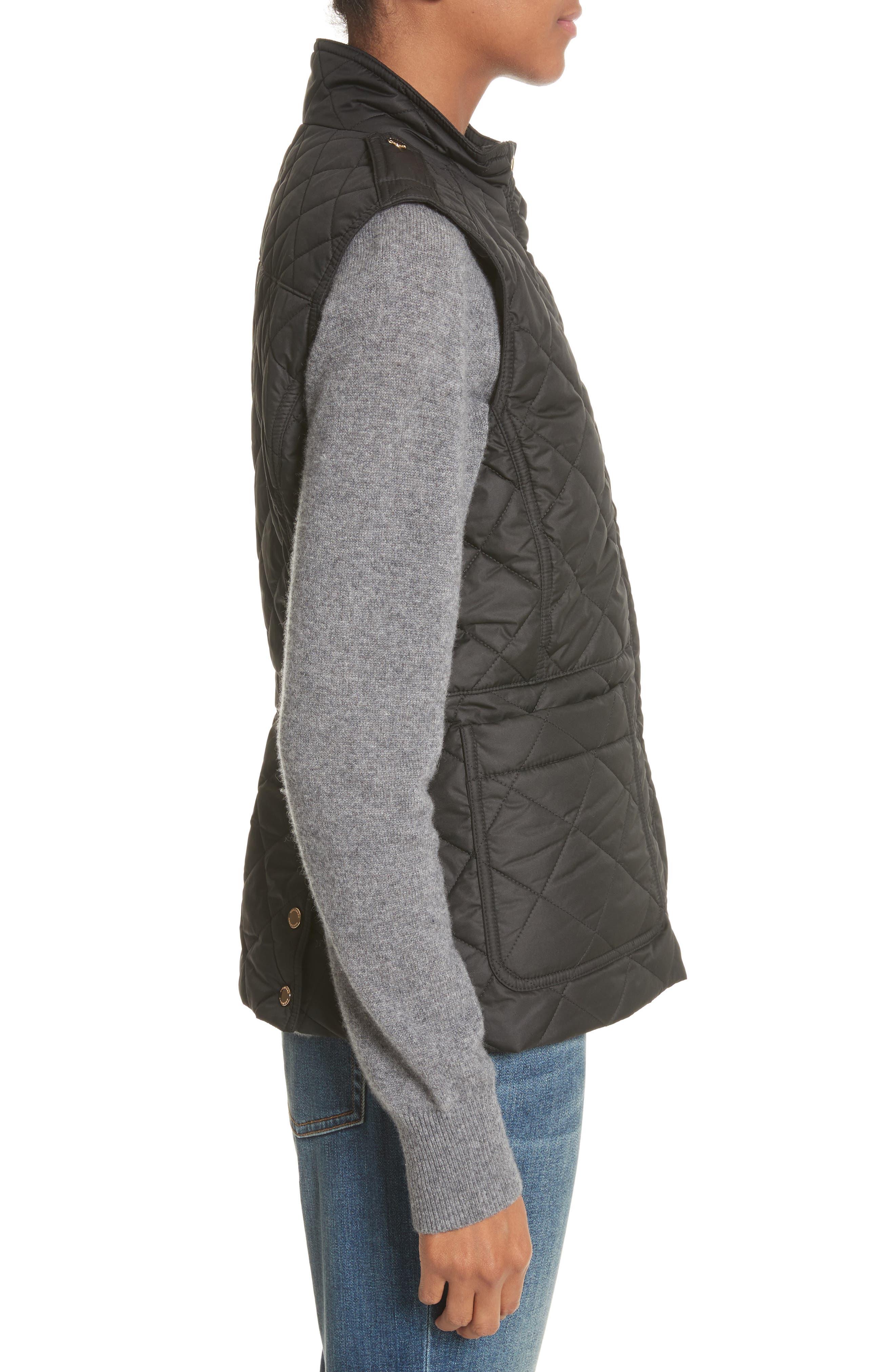 Westleton Quilted Vest,                             Alternate thumbnail 3, color,                             Black