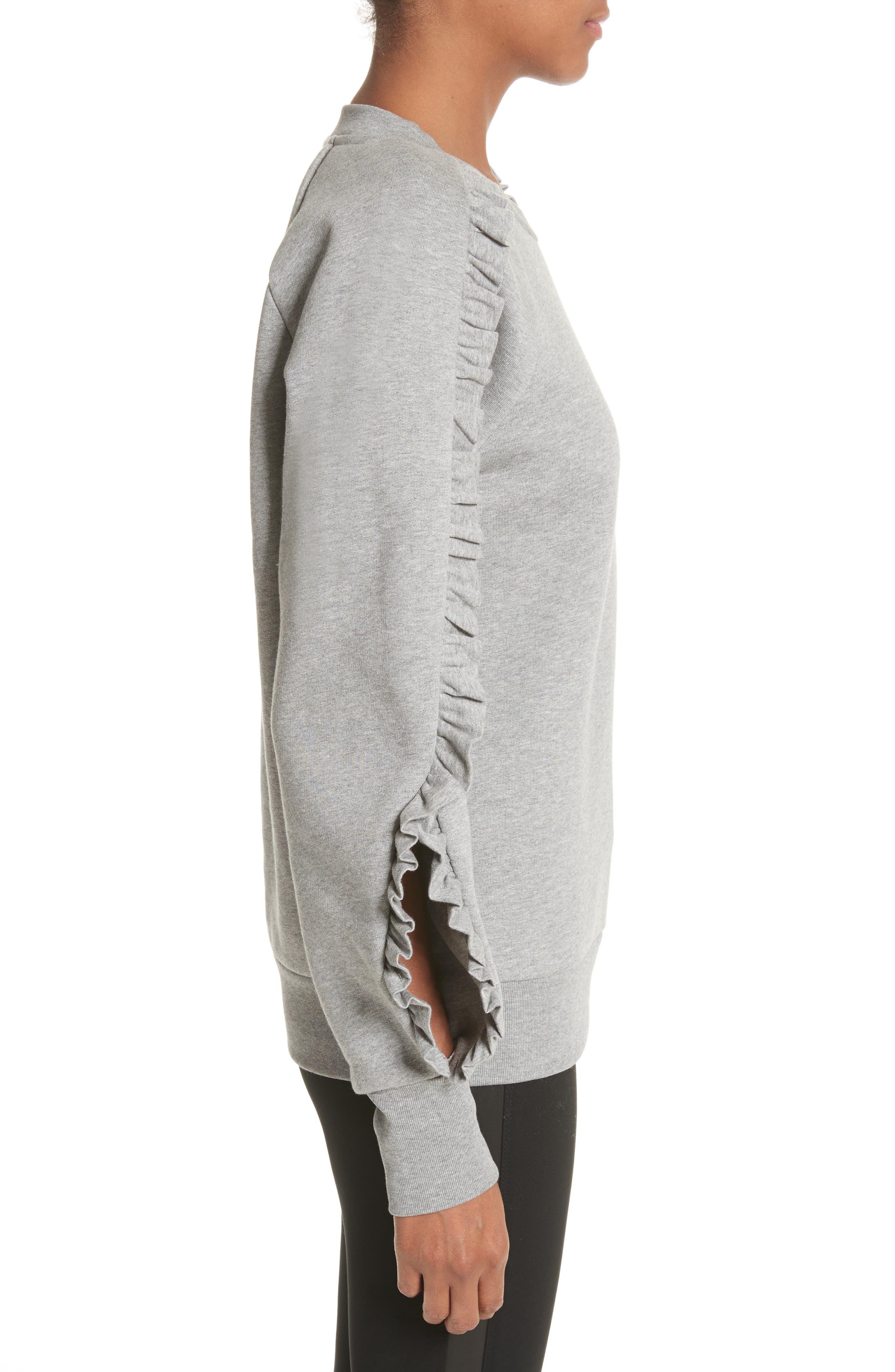 Alternate Image 3  - Burberry Kupa Ruffle Sleeve Sweatshirt