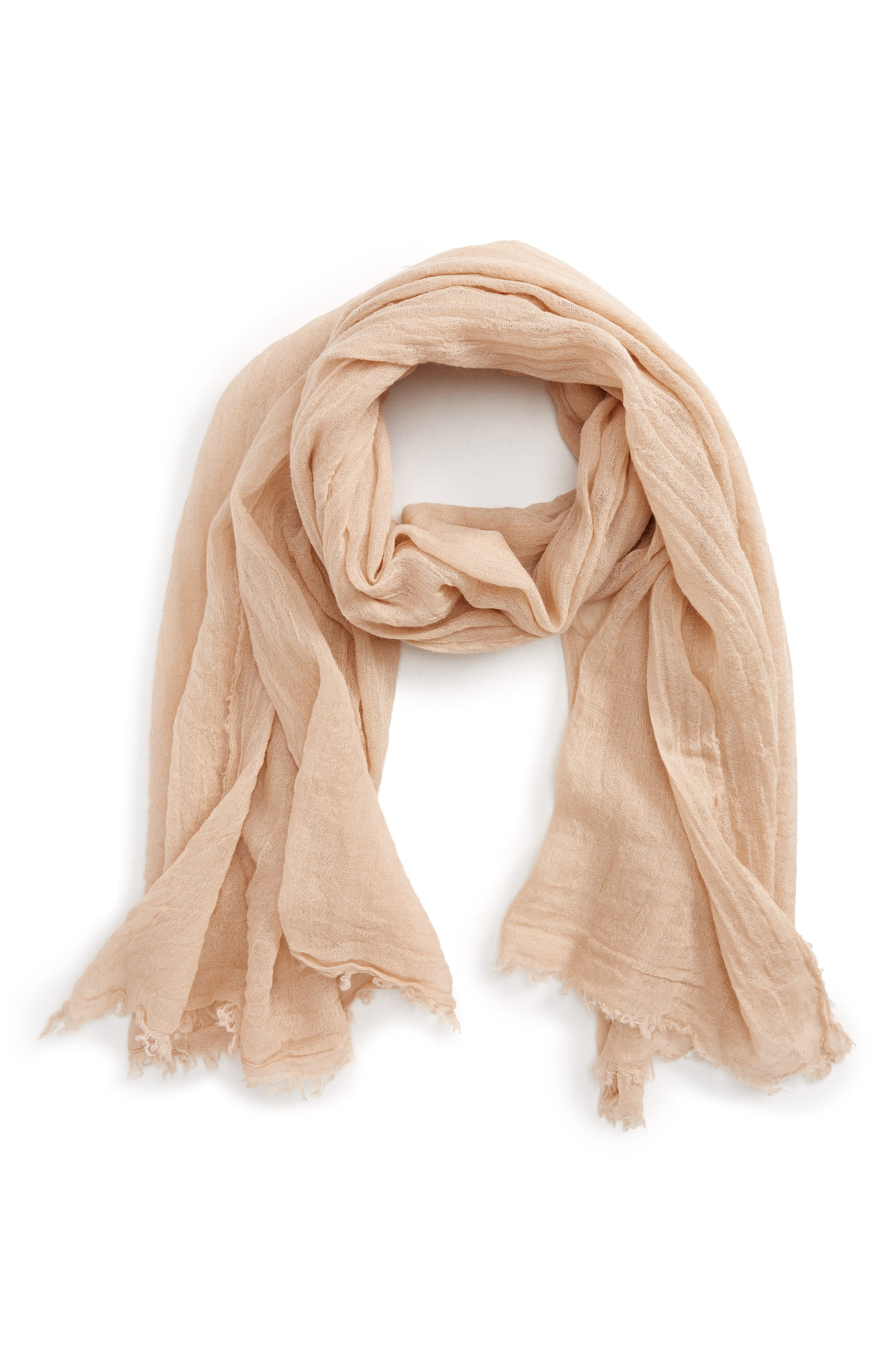 Gauze Scarf,                             Main thumbnail 1, color,                             Tan