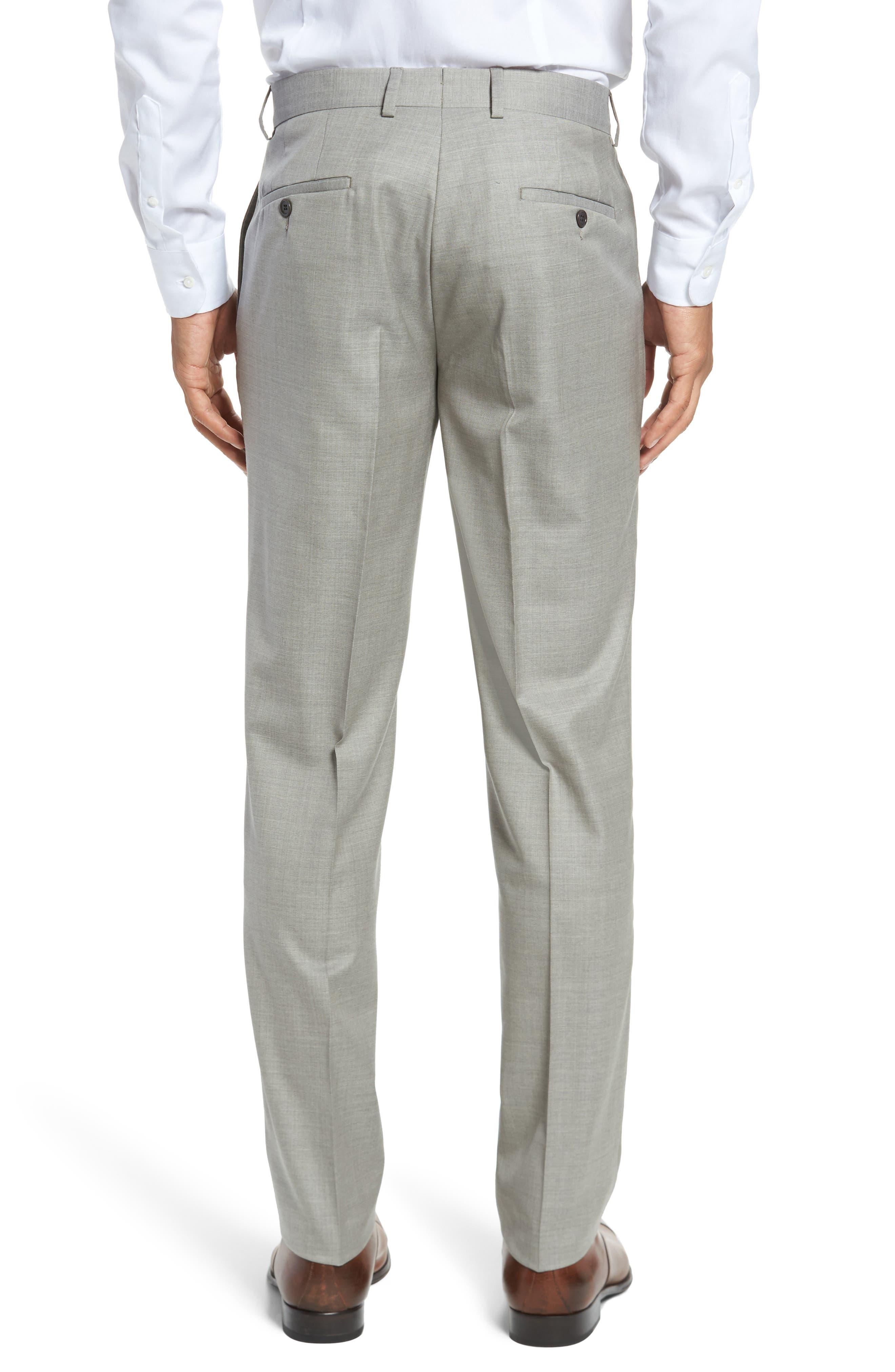 Peter Millar Multi Season Super 150s Wool Flat Front Trousers,                             Alternate thumbnail 2, color,                             Sabbia