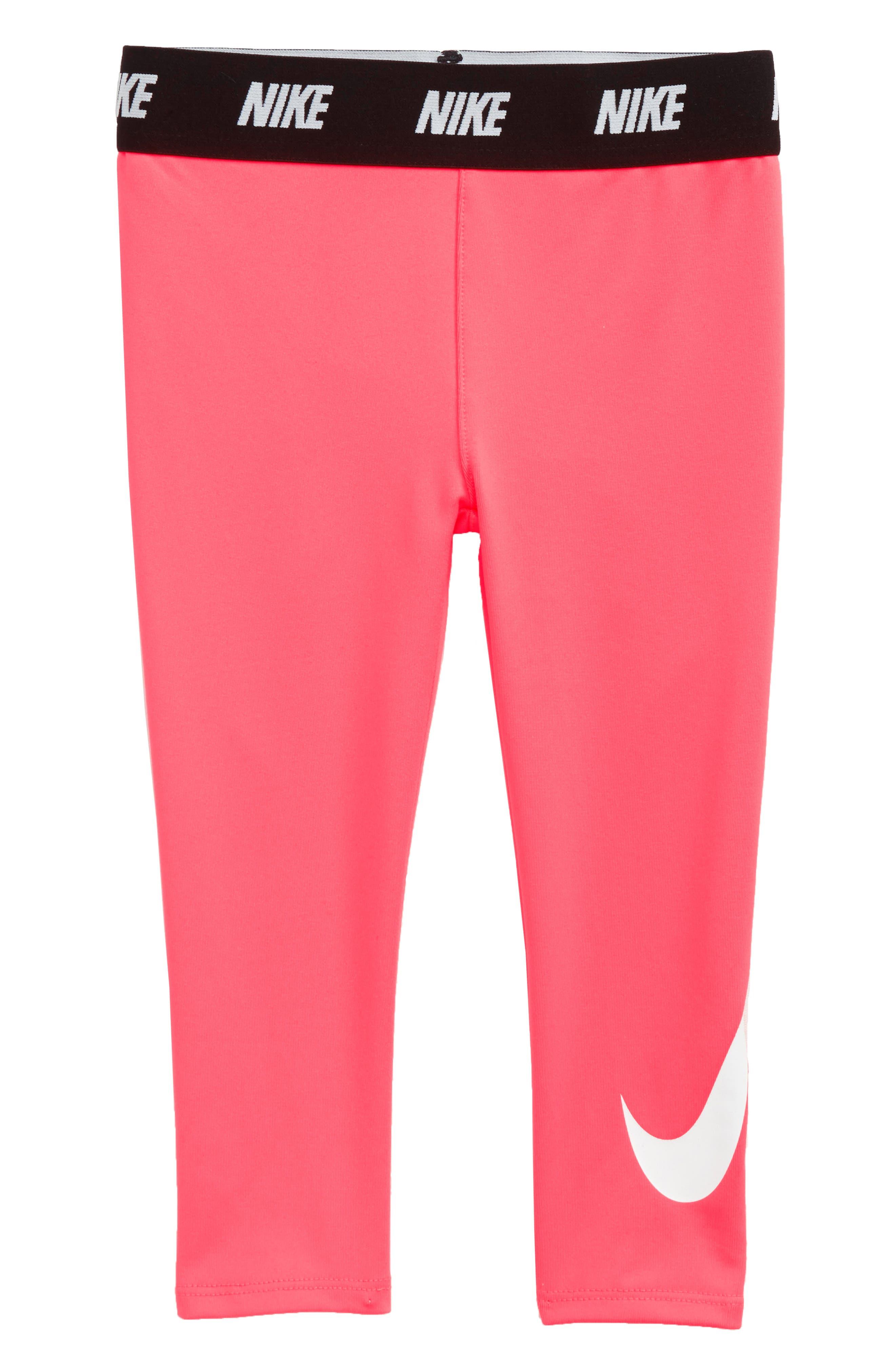 Graphic Dri-FIT Leggings,                         Main,                         color, Princess Pink