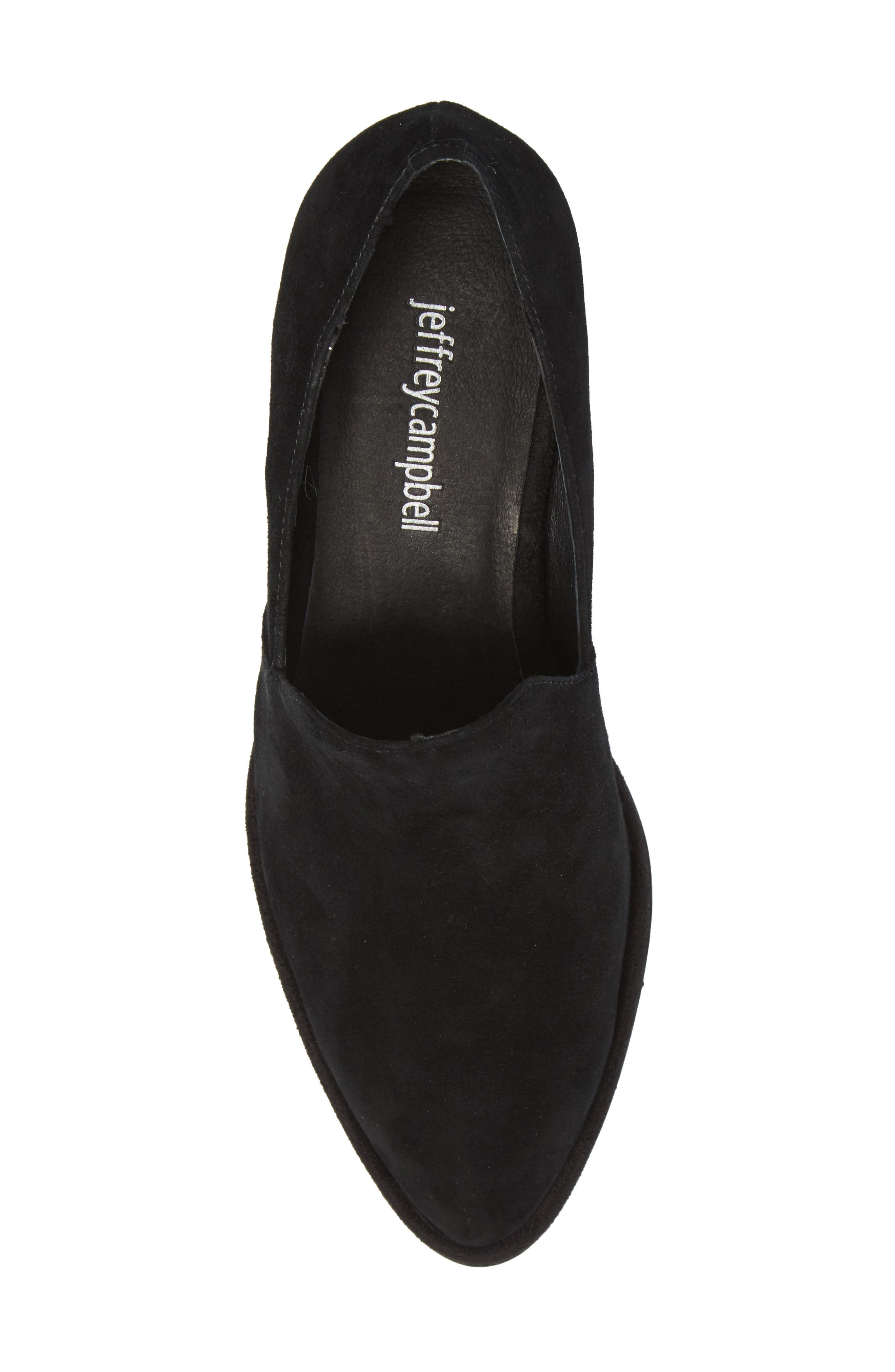 Serlin Jeweled Heel Loafer,                             Alternate thumbnail 5, color,                             Black Suede Bright Combo