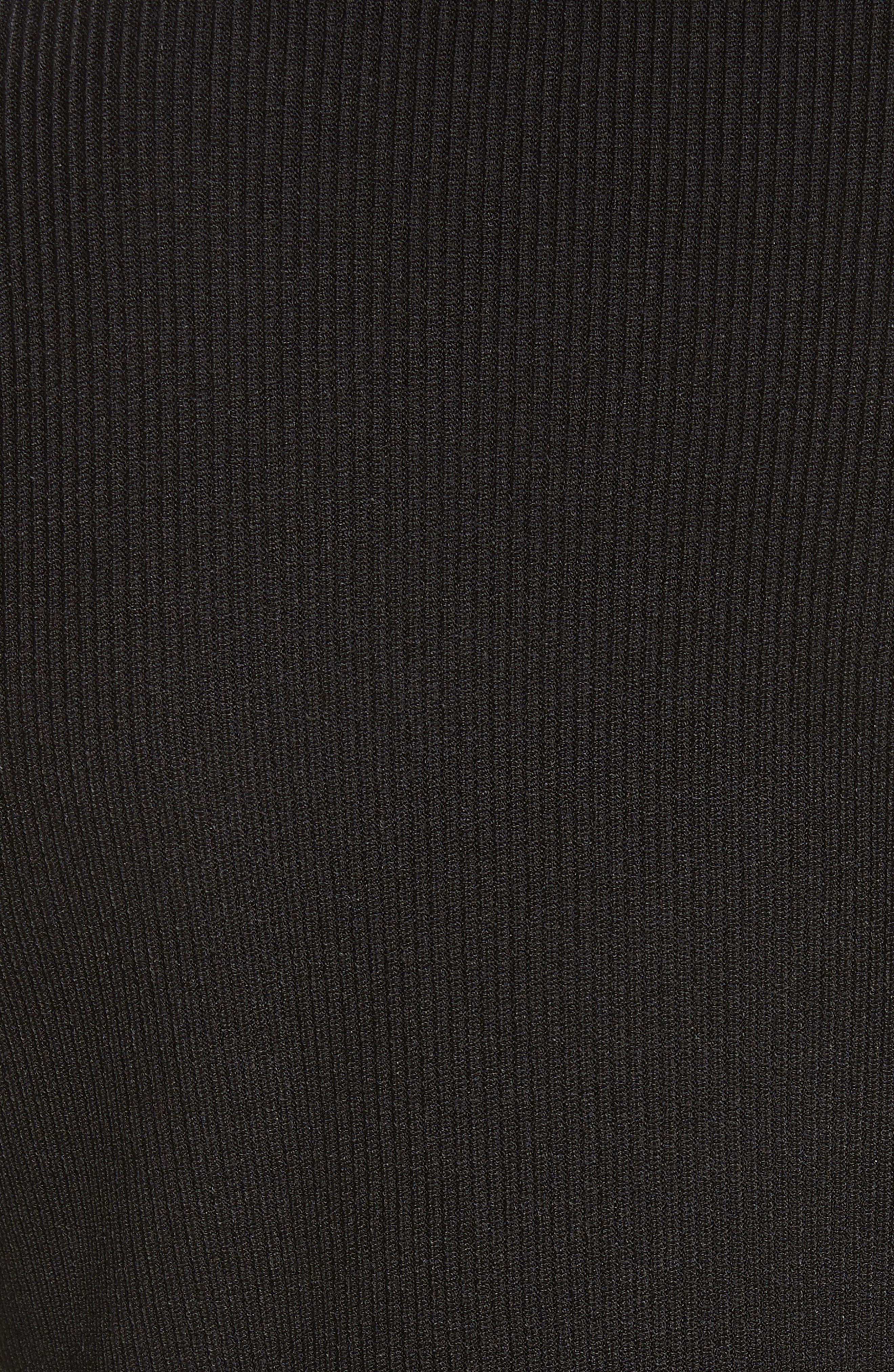 Sienna Ring Detail Knit Top,                             Alternate thumbnail 5, color,                             Black/ Matte Black