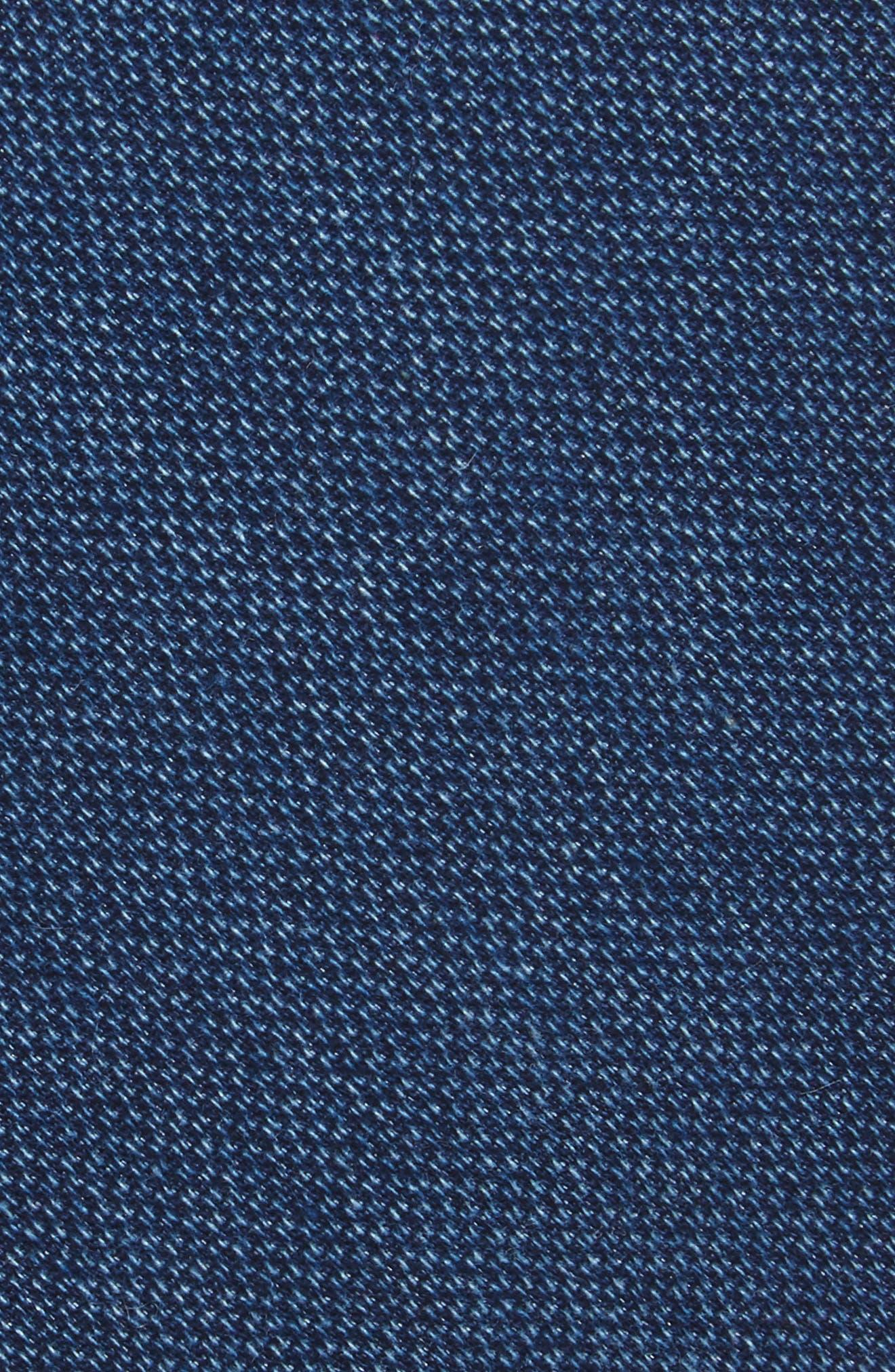 Verona Solid Cotton Skinny Tie,                             Alternate thumbnail 2, color,                             Navy
