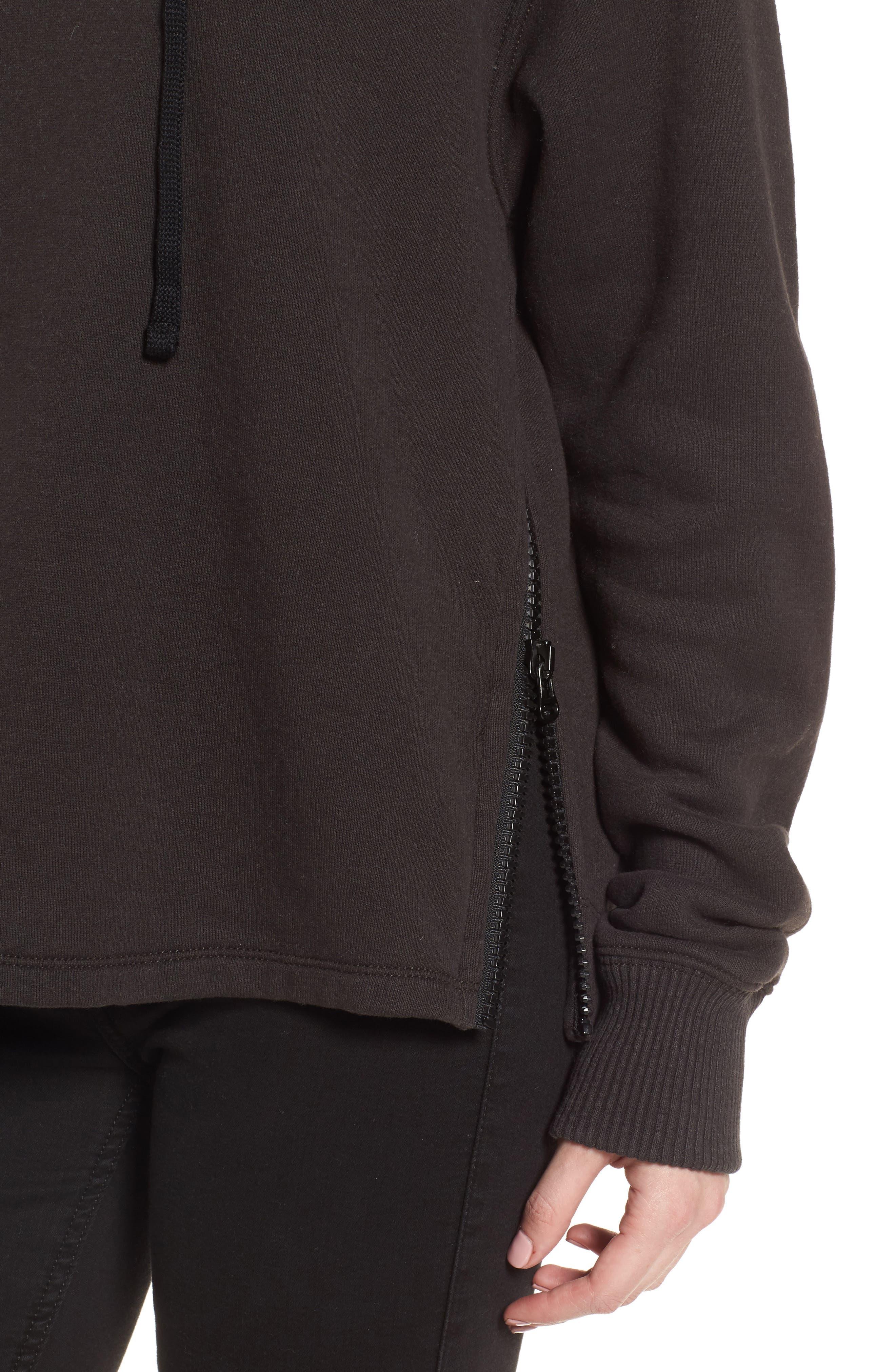 Fleece Lined Hoodie,                             Alternate thumbnail 4, color,                             Carbon
