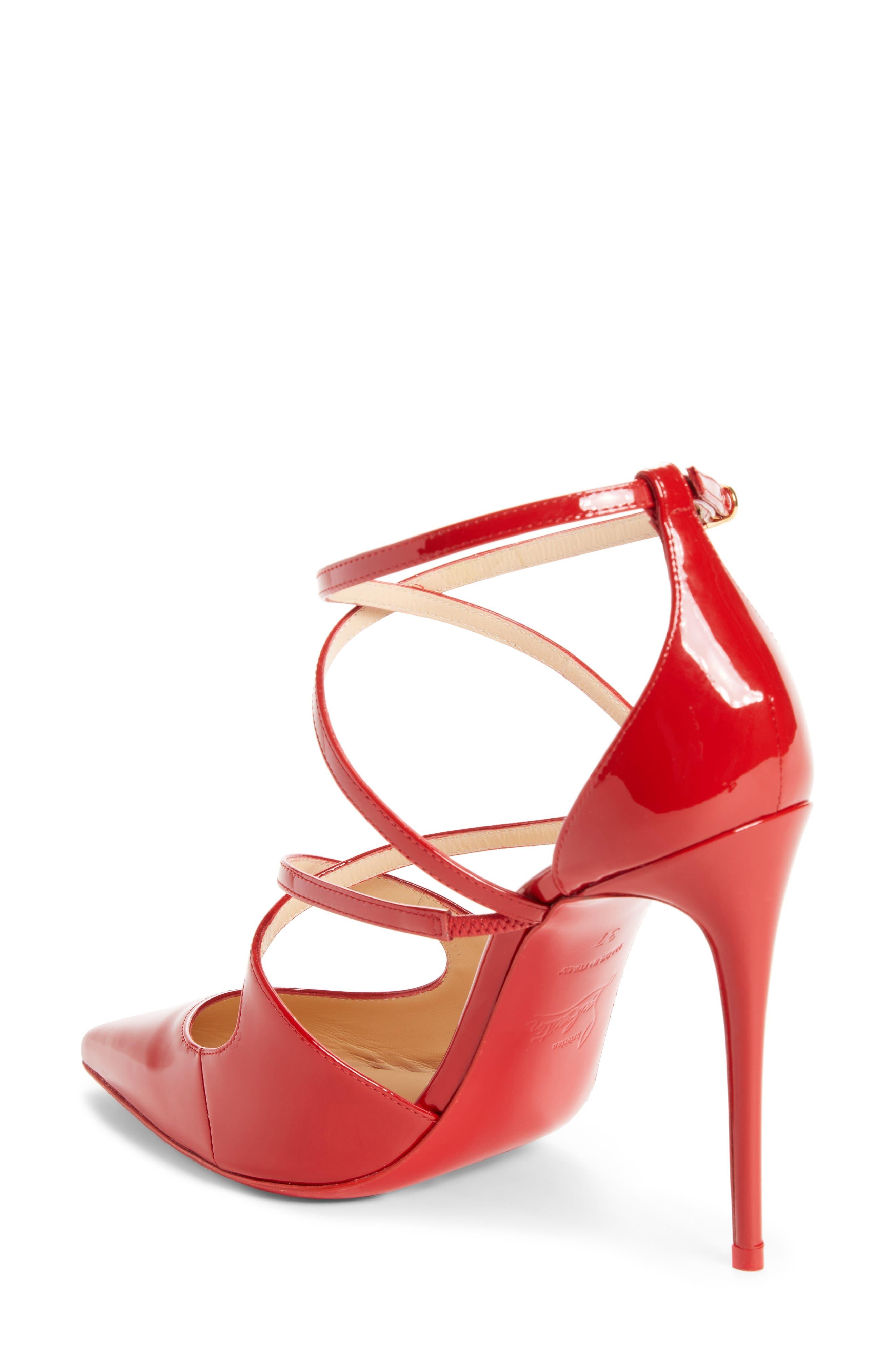 Crossfliketa Pump,                             Alternate thumbnail 2, color,                             Flamenco Red