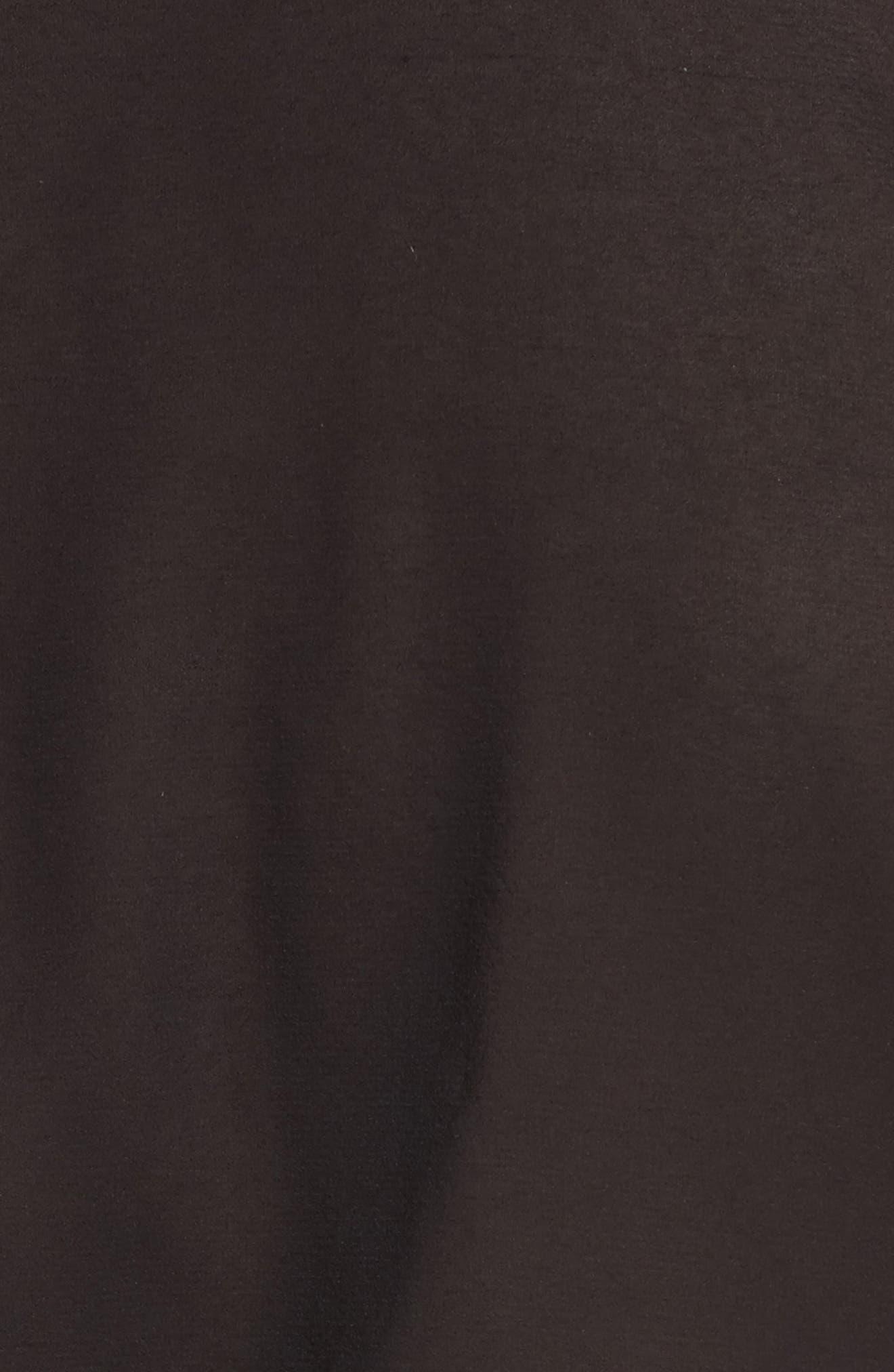 Claudette Cold Shoulder Blouse,                             Alternate thumbnail 5, color,                             Black