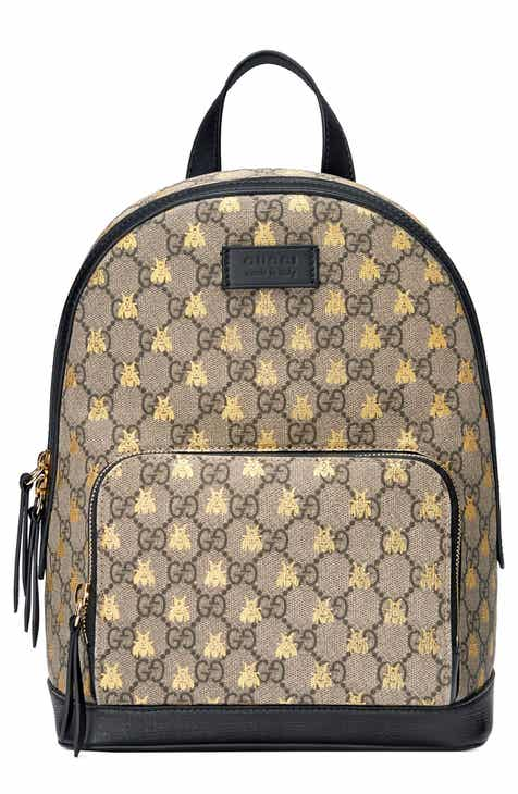 Gucci Bee GG Supreme Canvas Backpack e926e8c9a