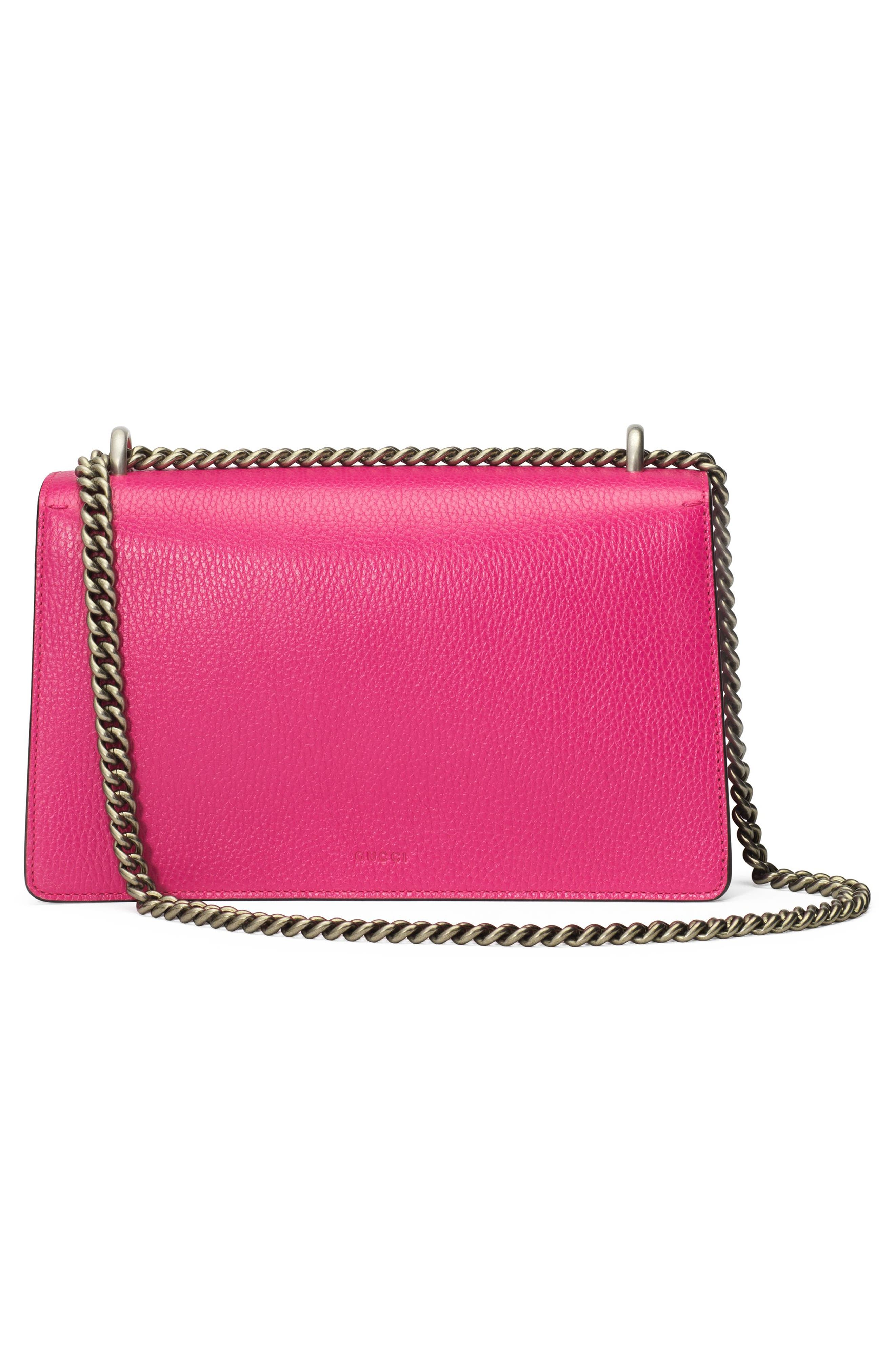 Small Dionysus Guccify Shoulder Bag,                             Alternate thumbnail 2, color,                             Box Pink/ Black Diamond/ Multi
