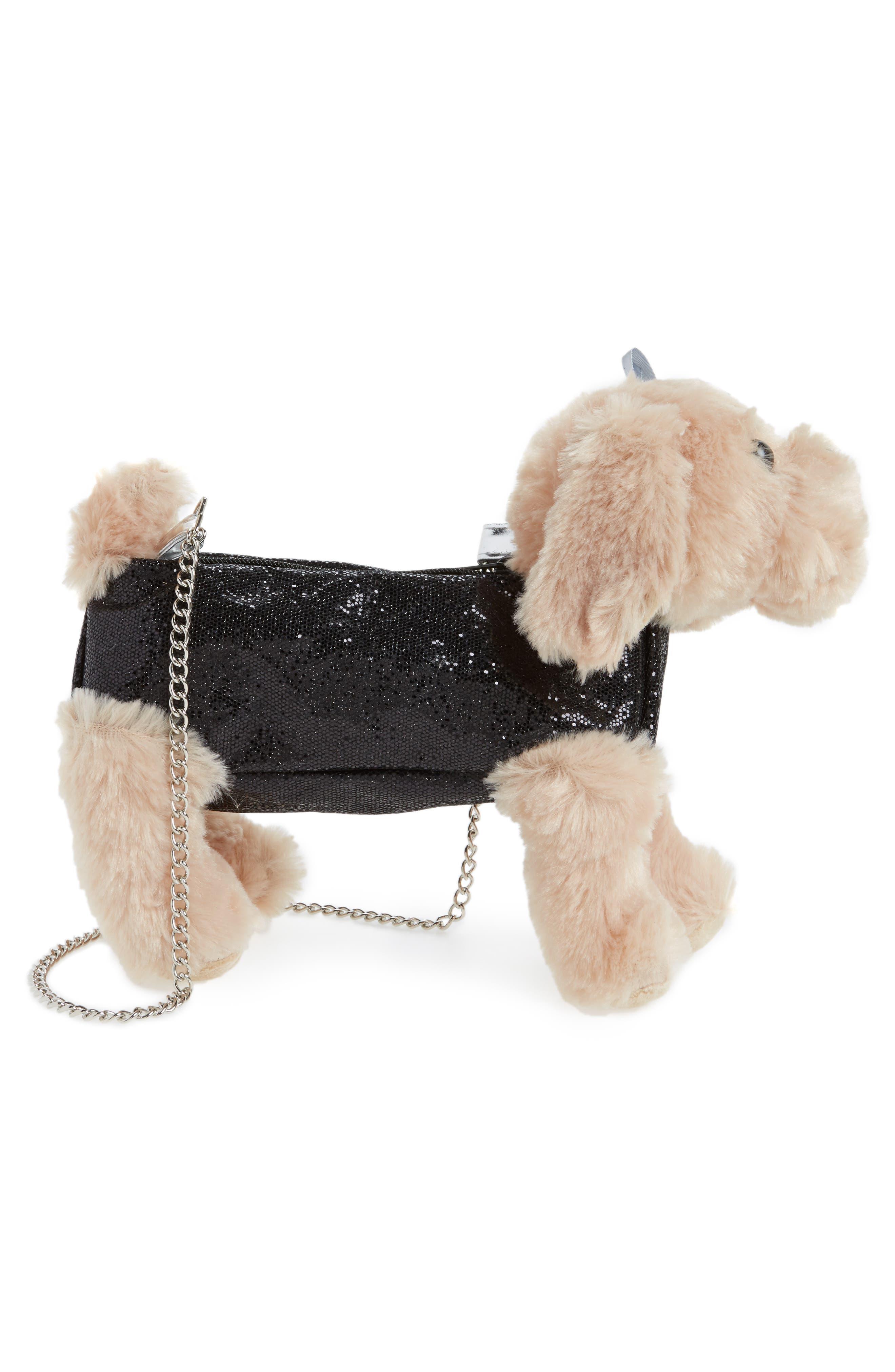 Cocker Spaniel Shoulder Bag,                             Alternate thumbnail 4, color,                             Black Combo