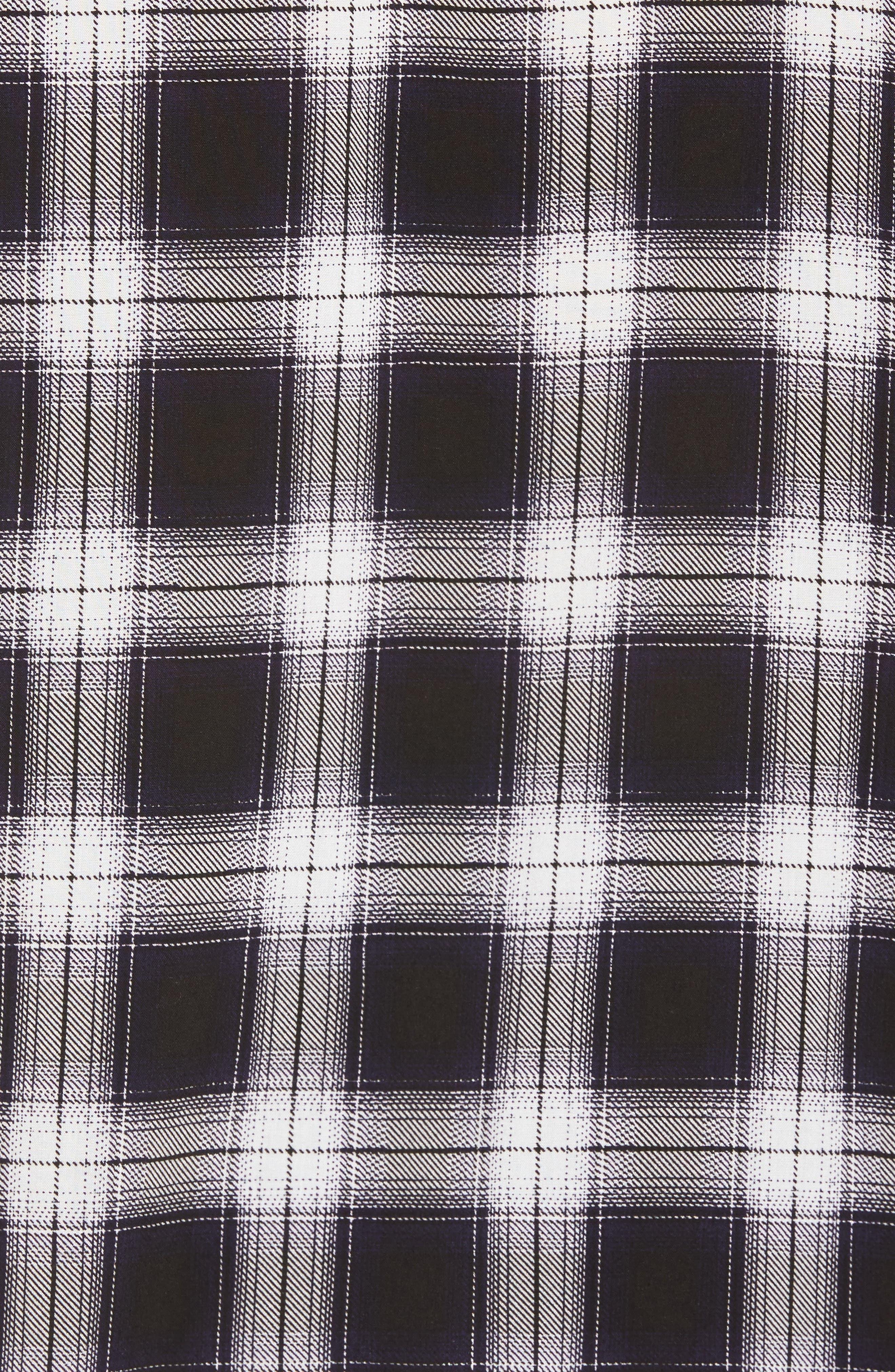 Plaid Shirt,                             Alternate thumbnail 5, color,                             Black- White Plaid