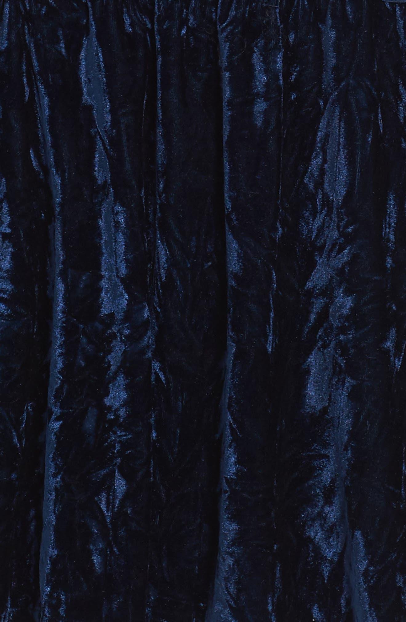 Velvet Dress,                             Alternate thumbnail 3, color,                             Navy