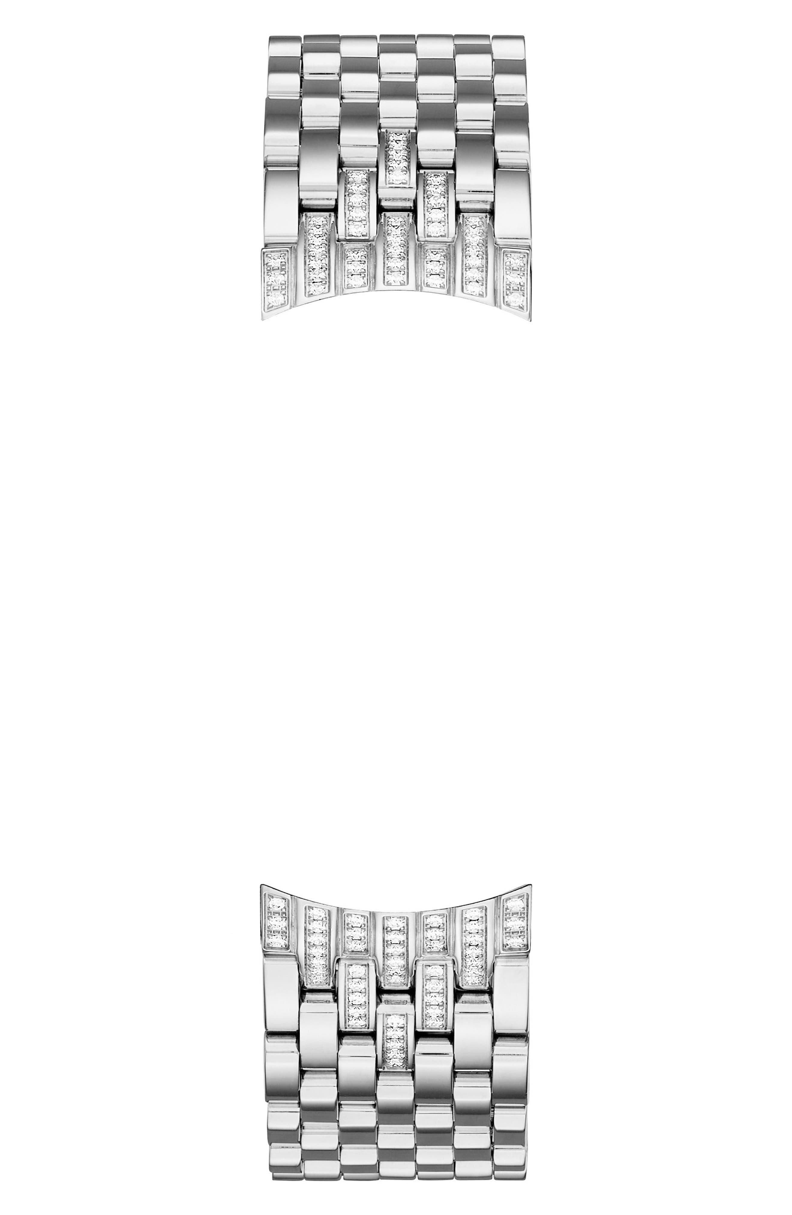 Alternate Image 3  - MICHELE Sidney Diamond 18mm Bracelet Watch Band