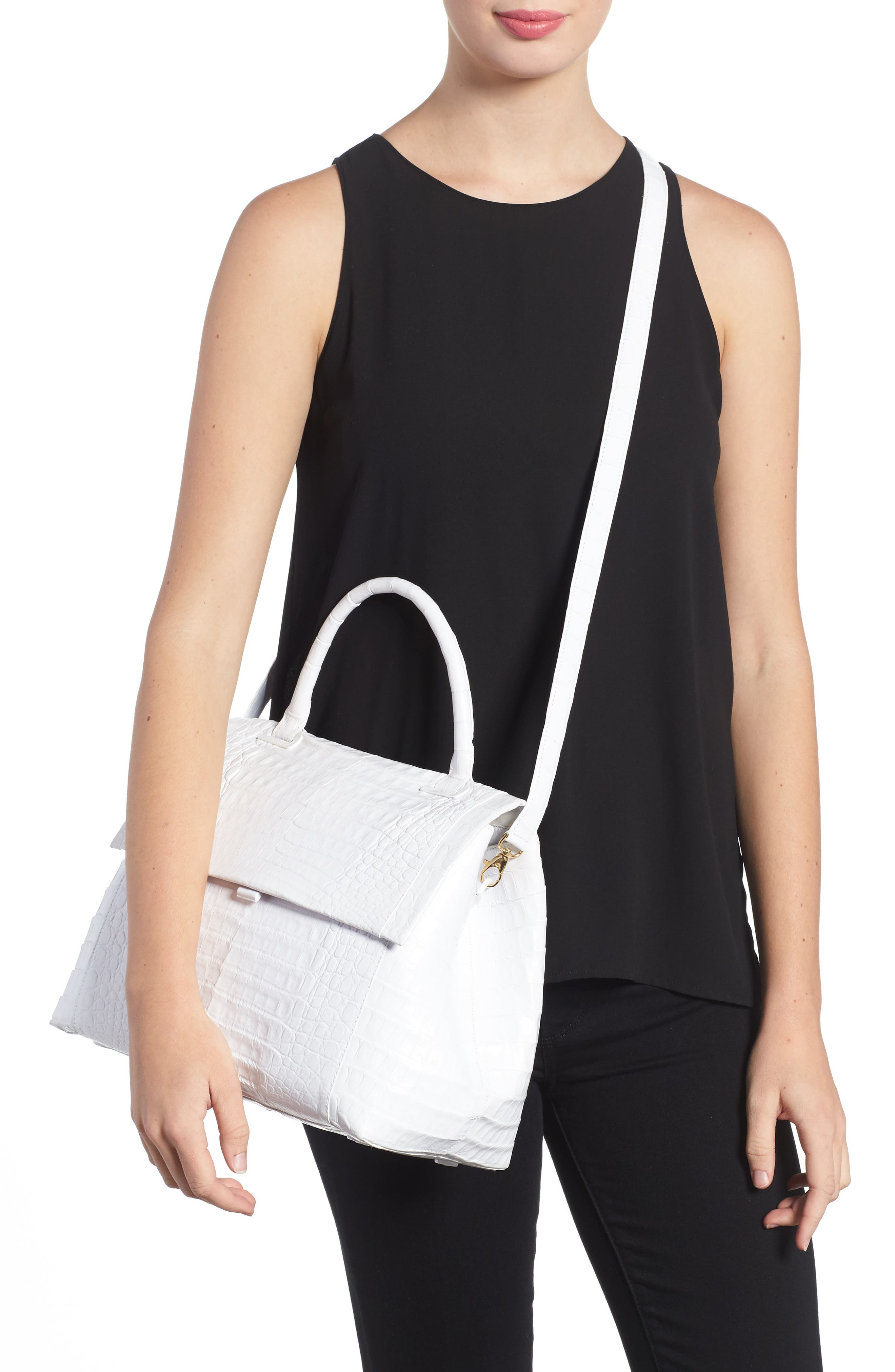 Alternate Image 2  - Nancy Gonzalez Medium Sophie Genuine Crocodile Top Handle Bag