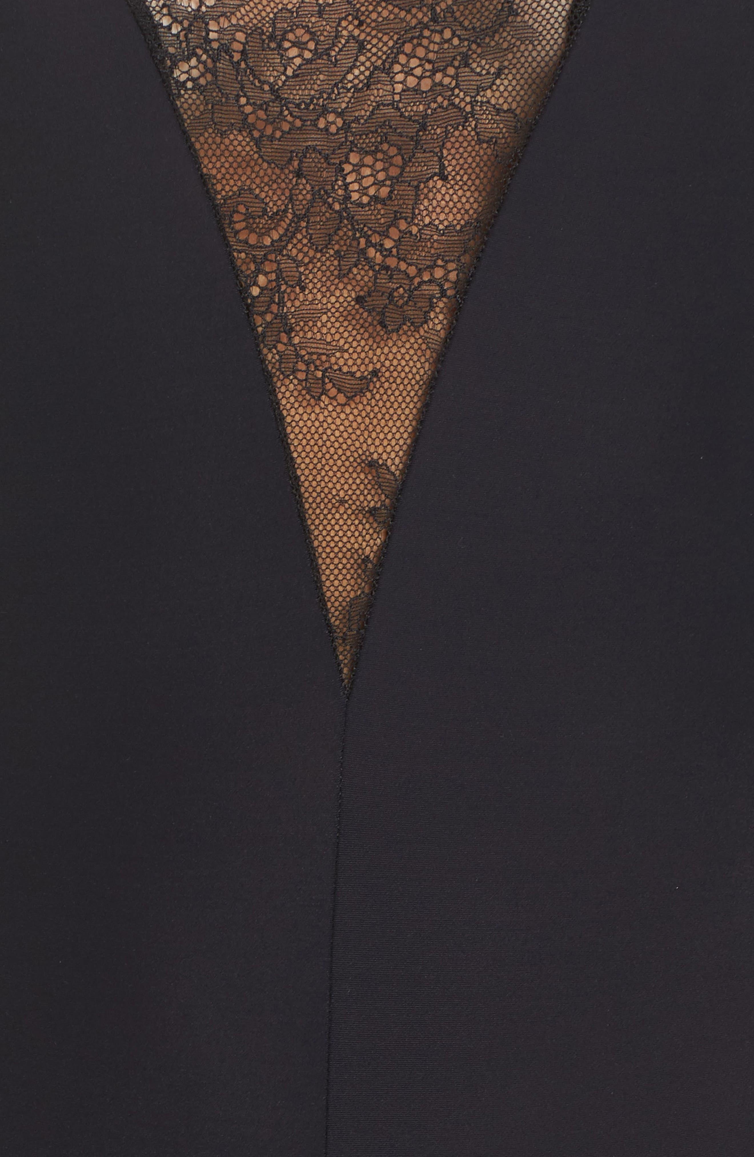 Odette Bodysuit,                             Alternate thumbnail 6, color,                             Black