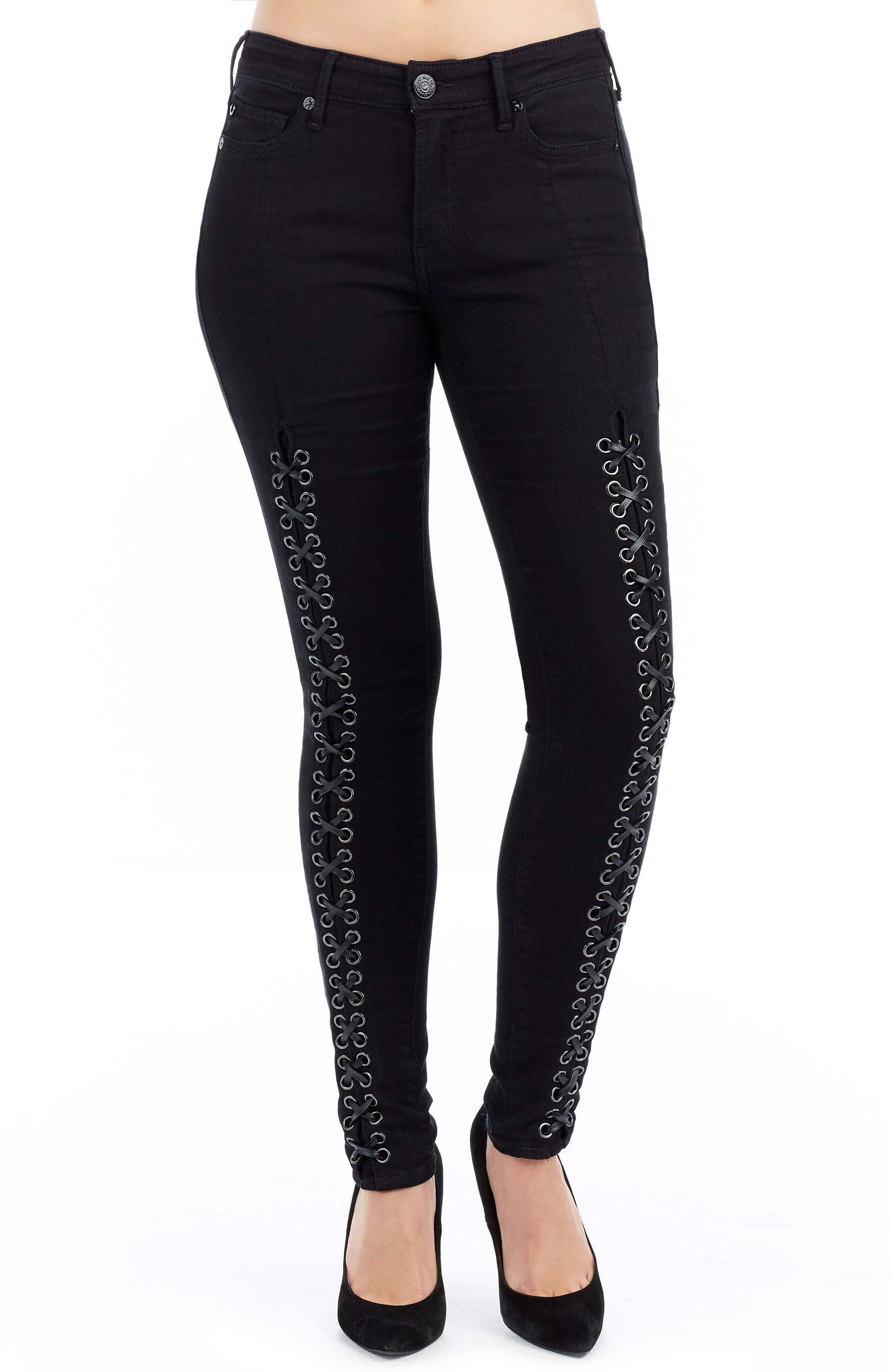 Jennie Curvy Fit Jeans,                         Main,                         color, Black Diamond