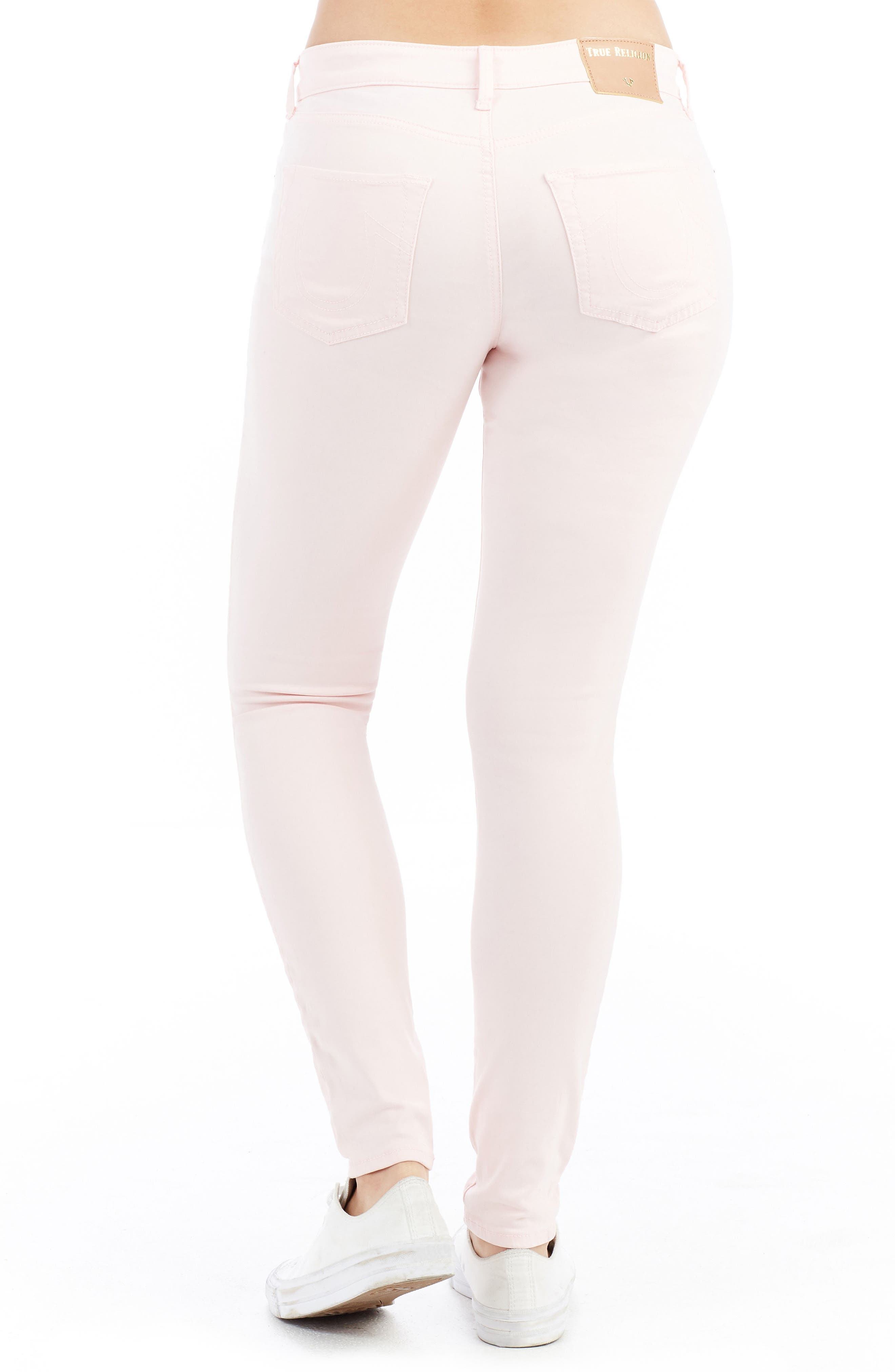 Jennie Curvy Skinny Jeans,                             Alternate thumbnail 3, color,                             Washed Peony