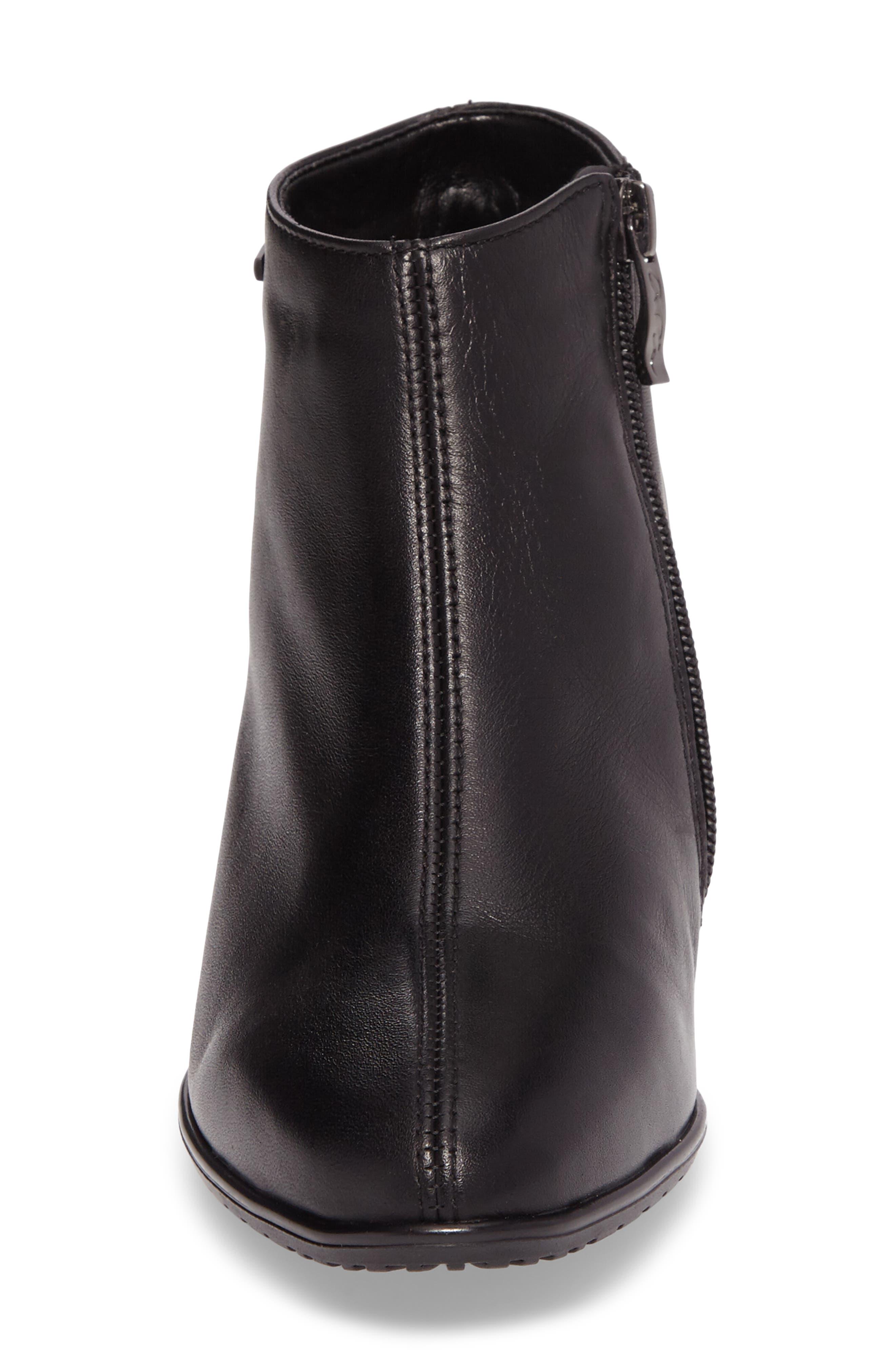 Prisha Waterproof Gore-Tex<sup>®</sup> Bootie,                             Alternate thumbnail 4, color,                             Black Leather