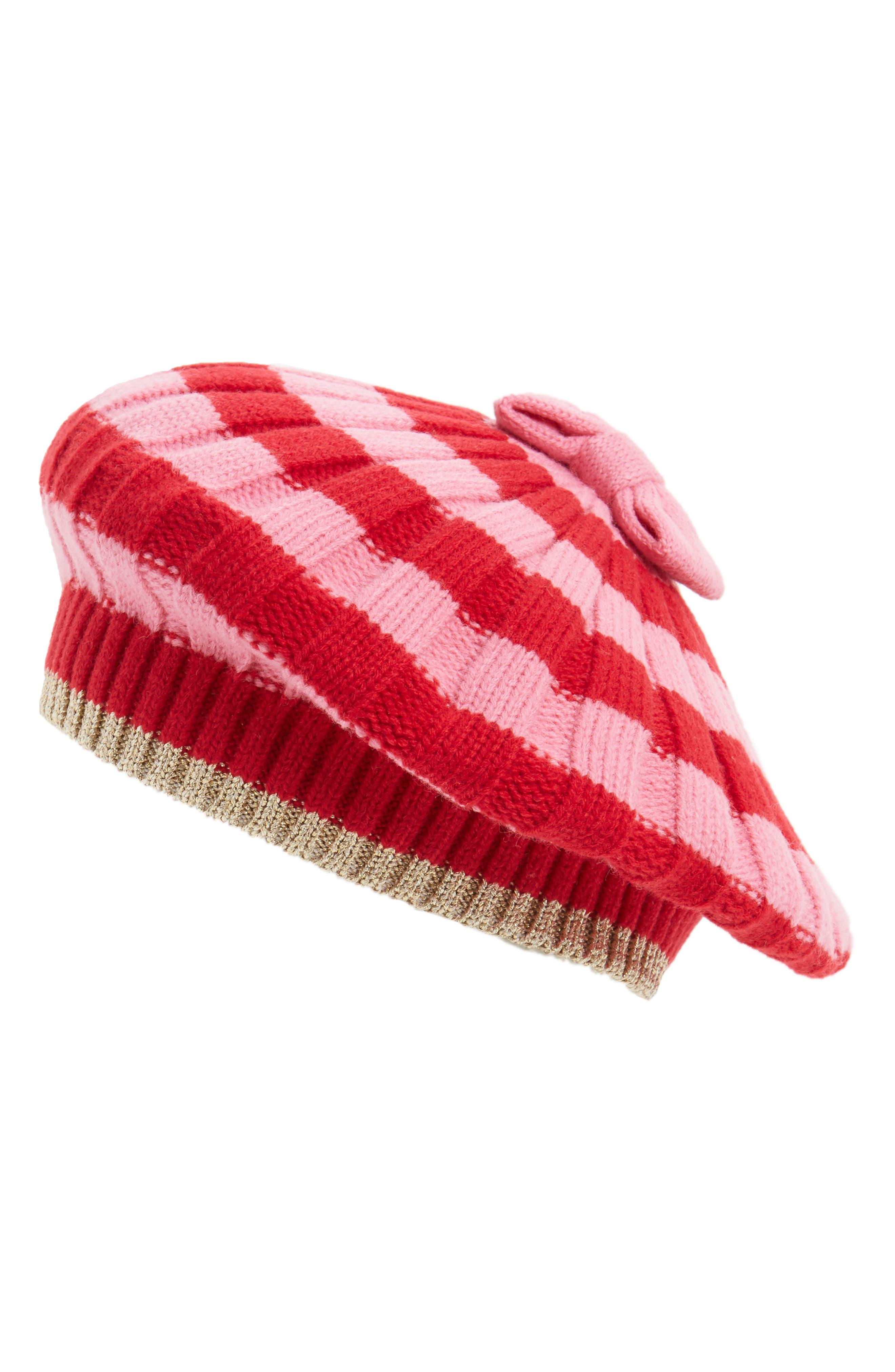 kate spade new york bold stripe beret
