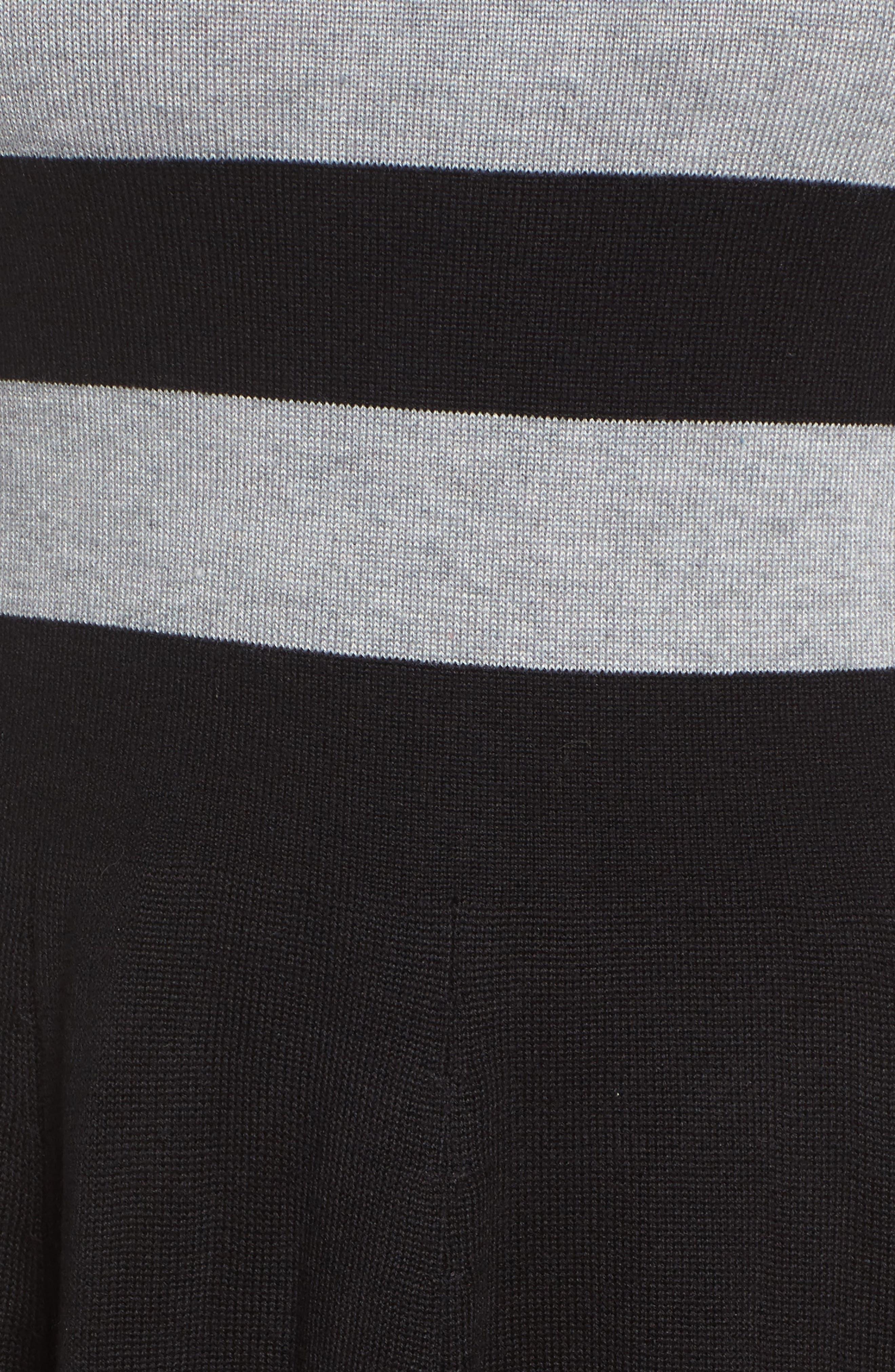 Fit & Flare Sweater Dress,                             Alternate thumbnail 5, color,                             Multi