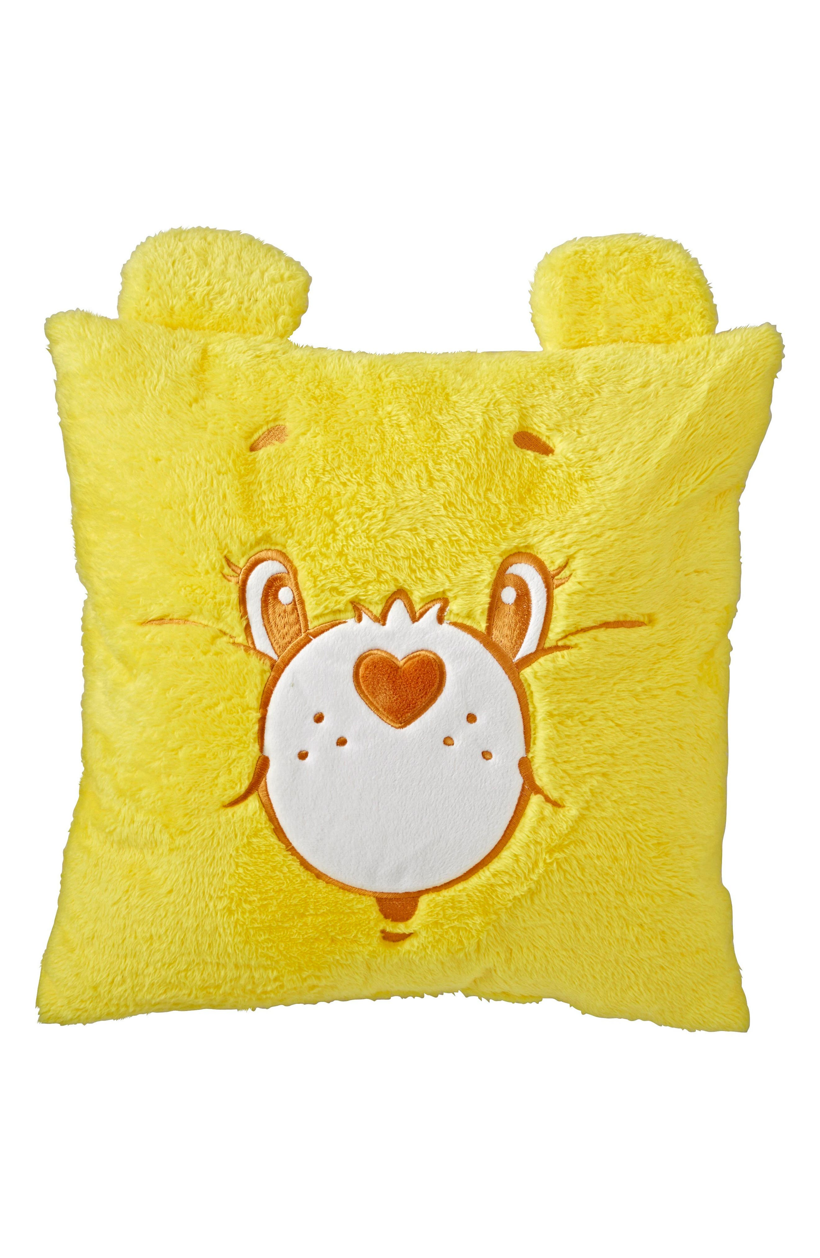 Care Bears<sup>™</sup> Throw Pillow,                         Main,                         color, Yellow