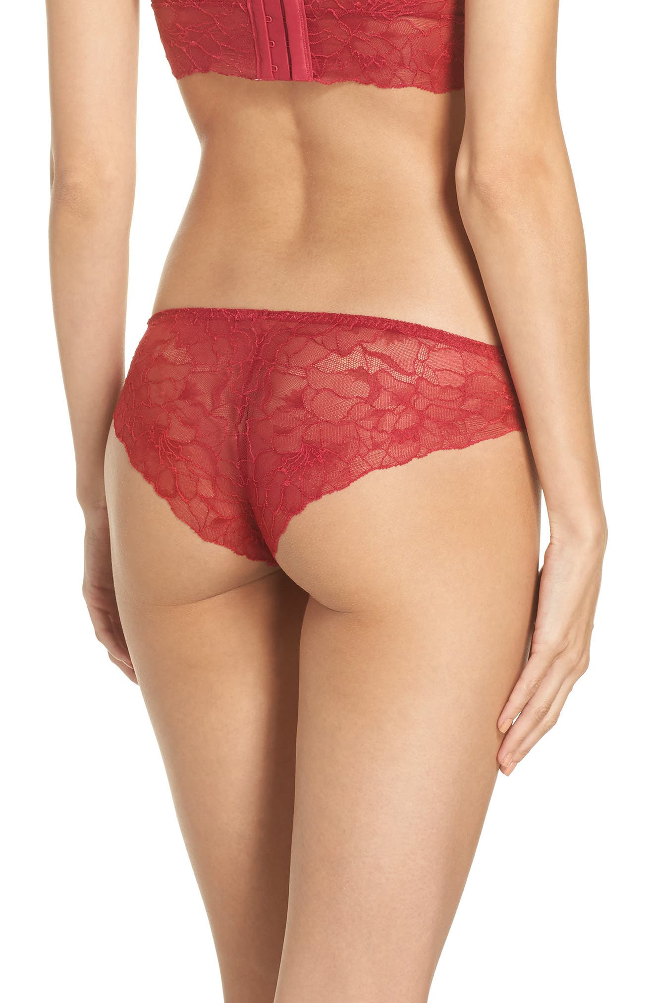 All Lace Glamour Panties,                             Alternate thumbnail 2, color,                             Scarlet