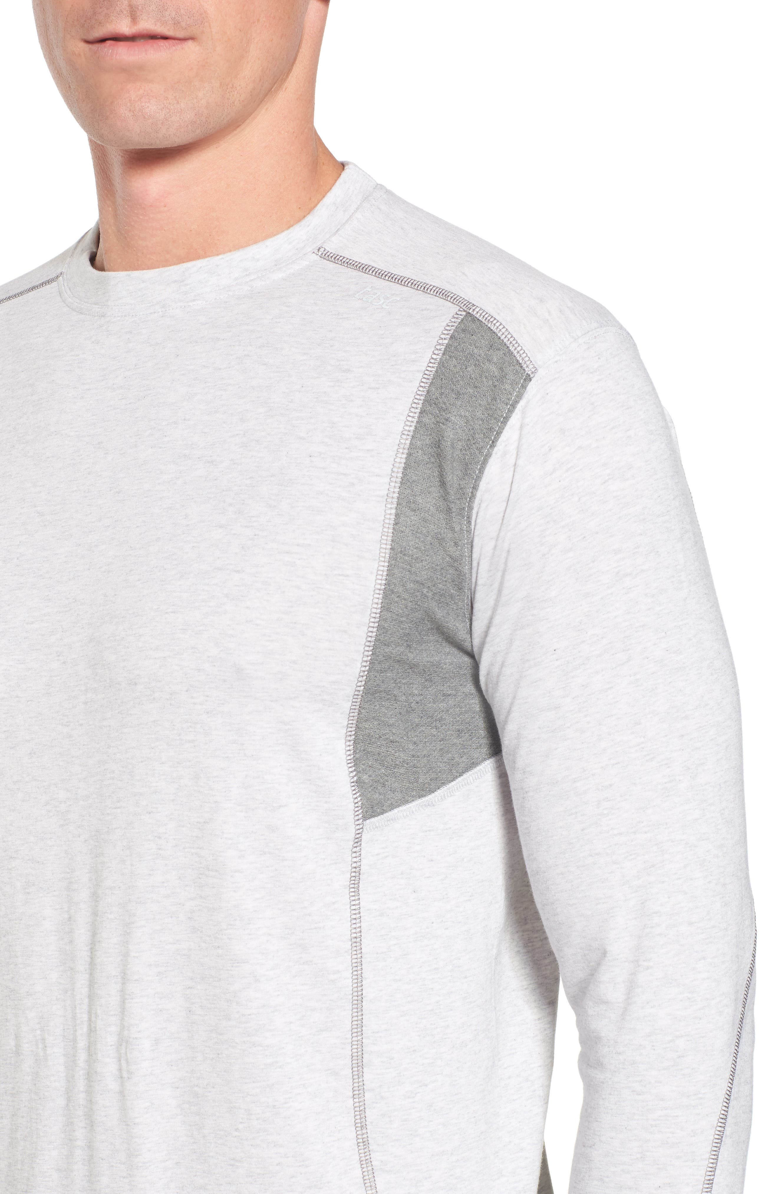 Charge Sweatshirt,                             Alternate thumbnail 4, color,                             Light Heather Gray