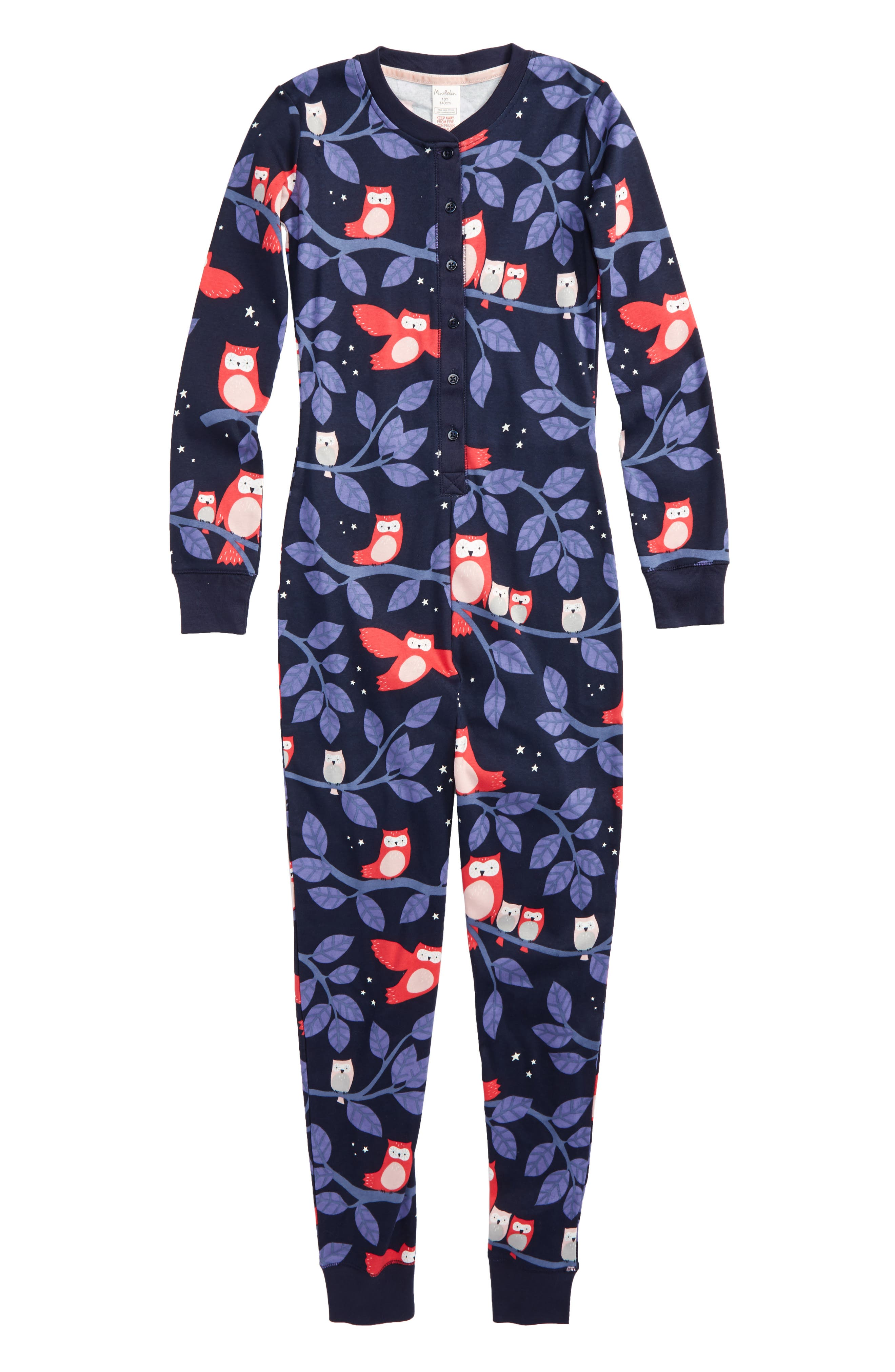 Main Image - Mini Boden Fitted One-Piece Pajamas (Little Girls & Big Girls)
