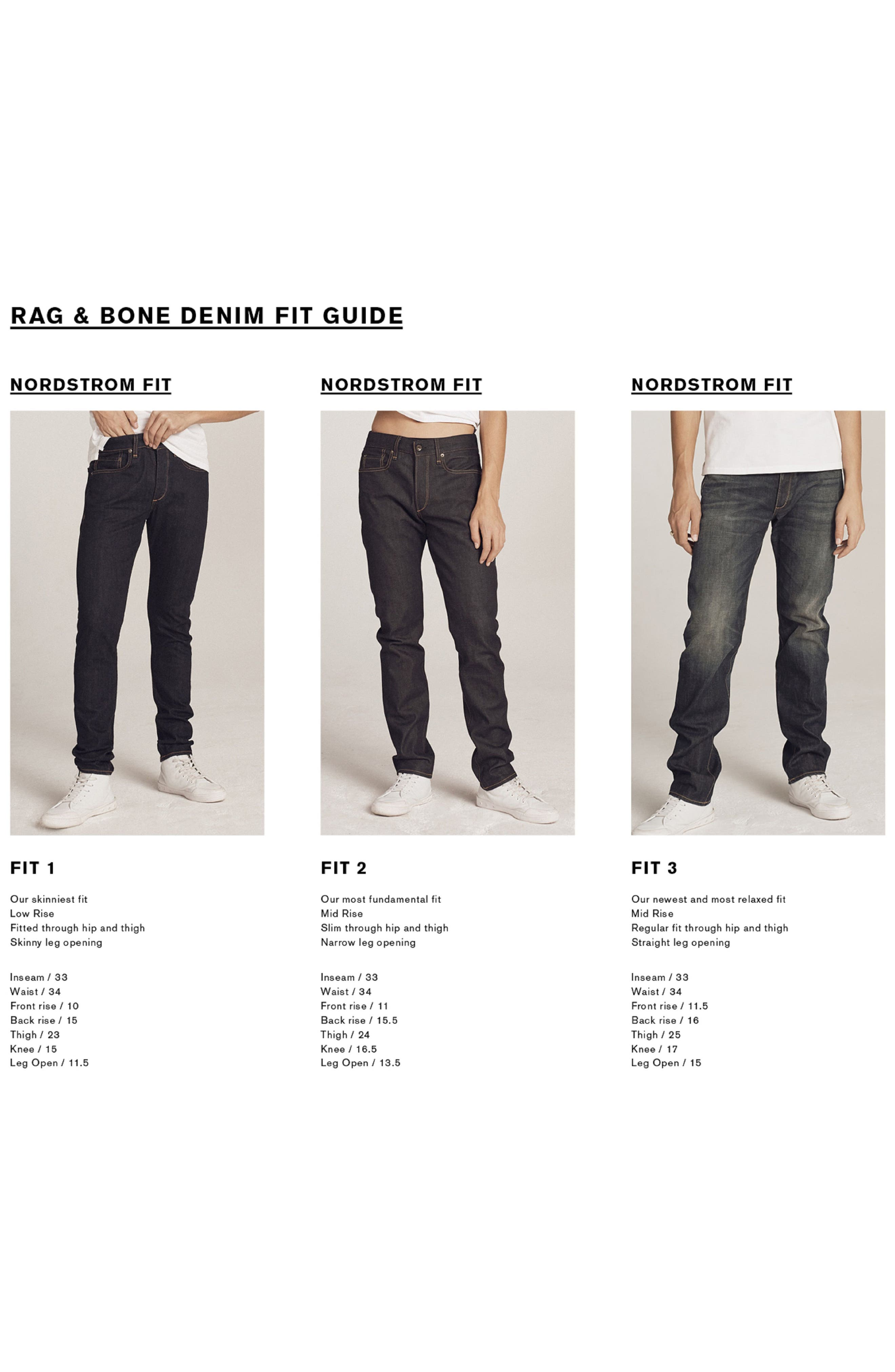 Alternate Image 3  - rag & bone Fit 2 Slim Fit Jeans (Coated Black)