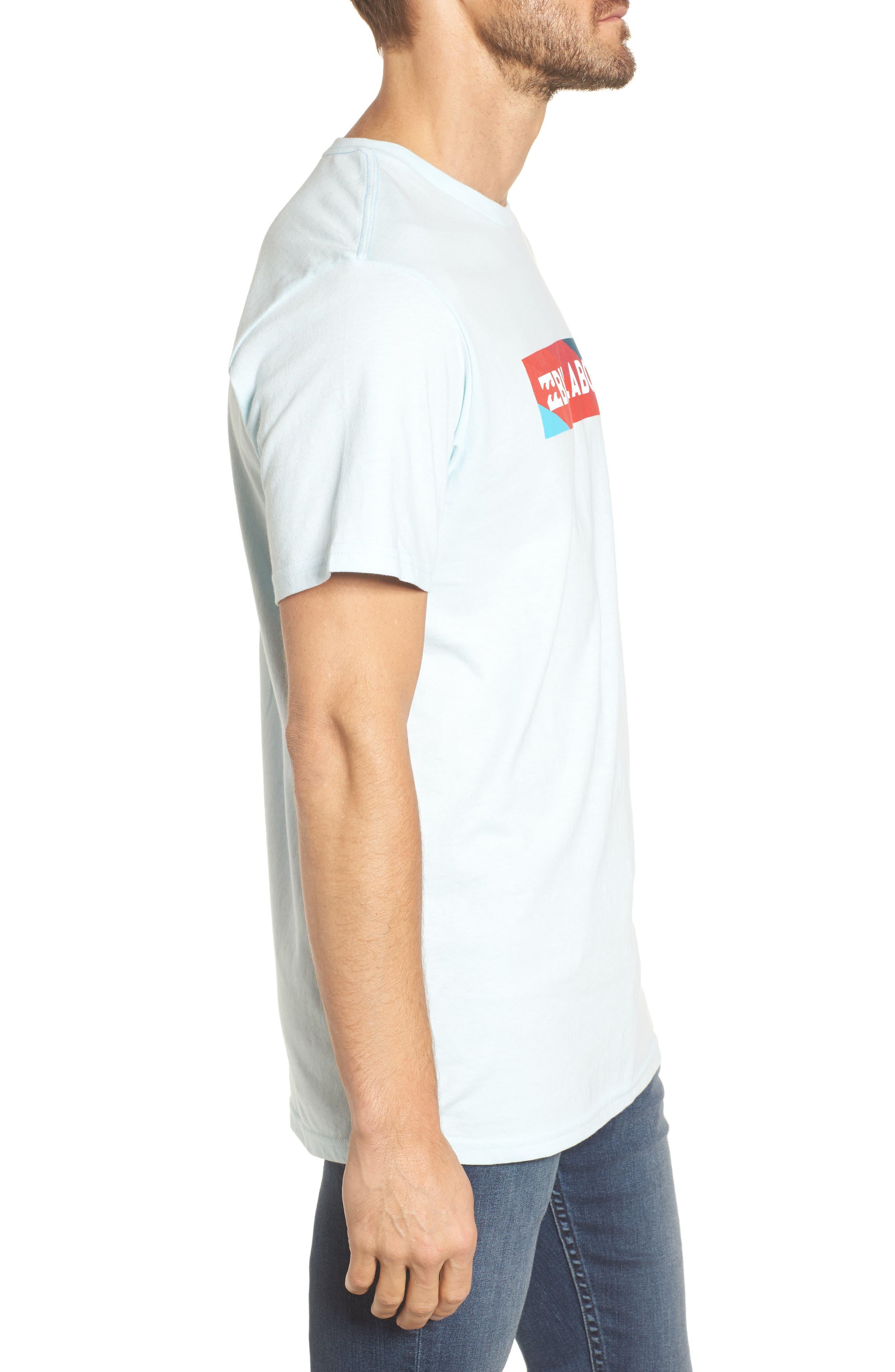 Unity Block Graphic T-Shirt,                             Alternate thumbnail 3, color,                             Coastal Blue