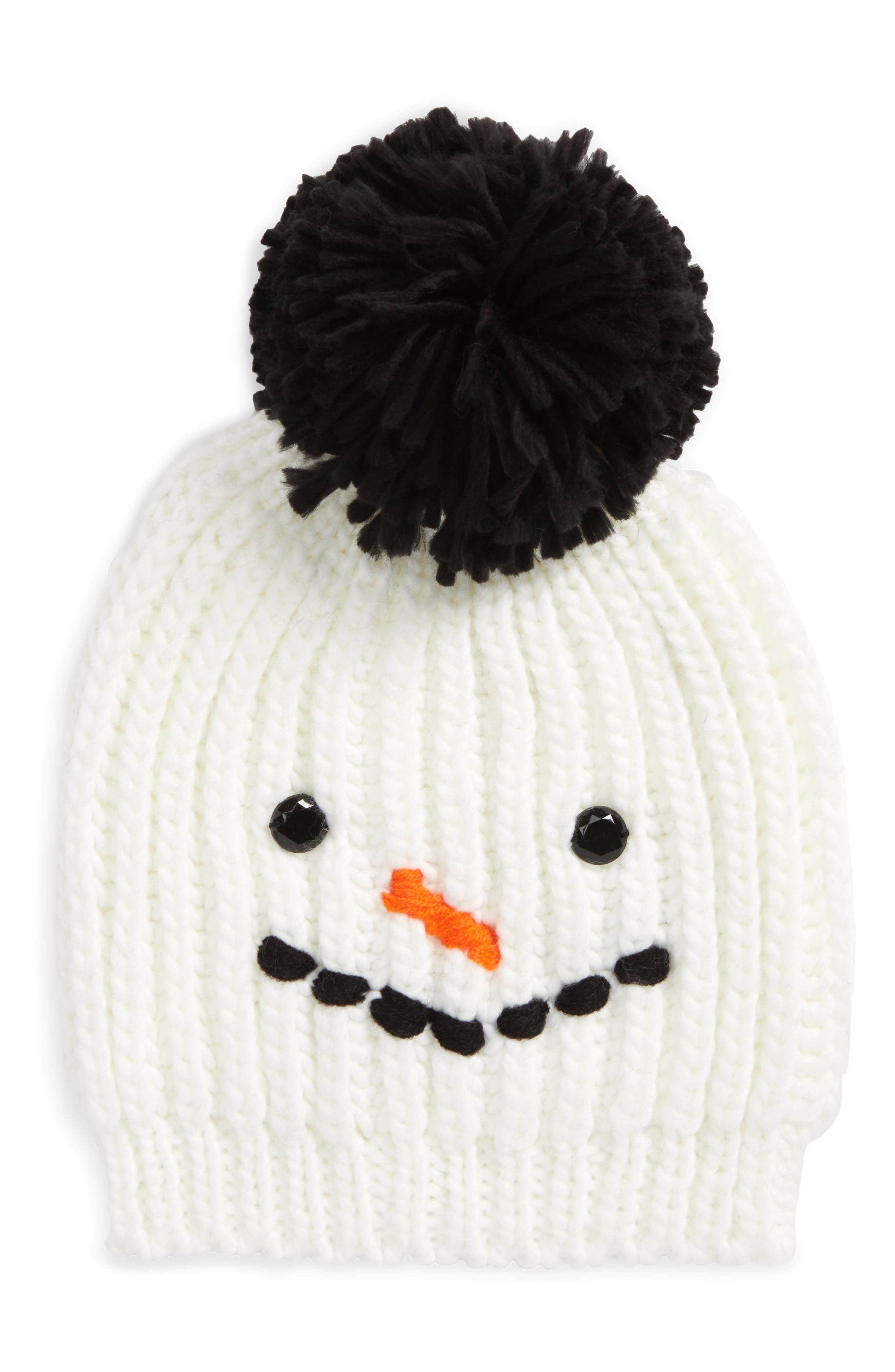 Chunky Frosty Beanie,                         Main,                         color, Ivory