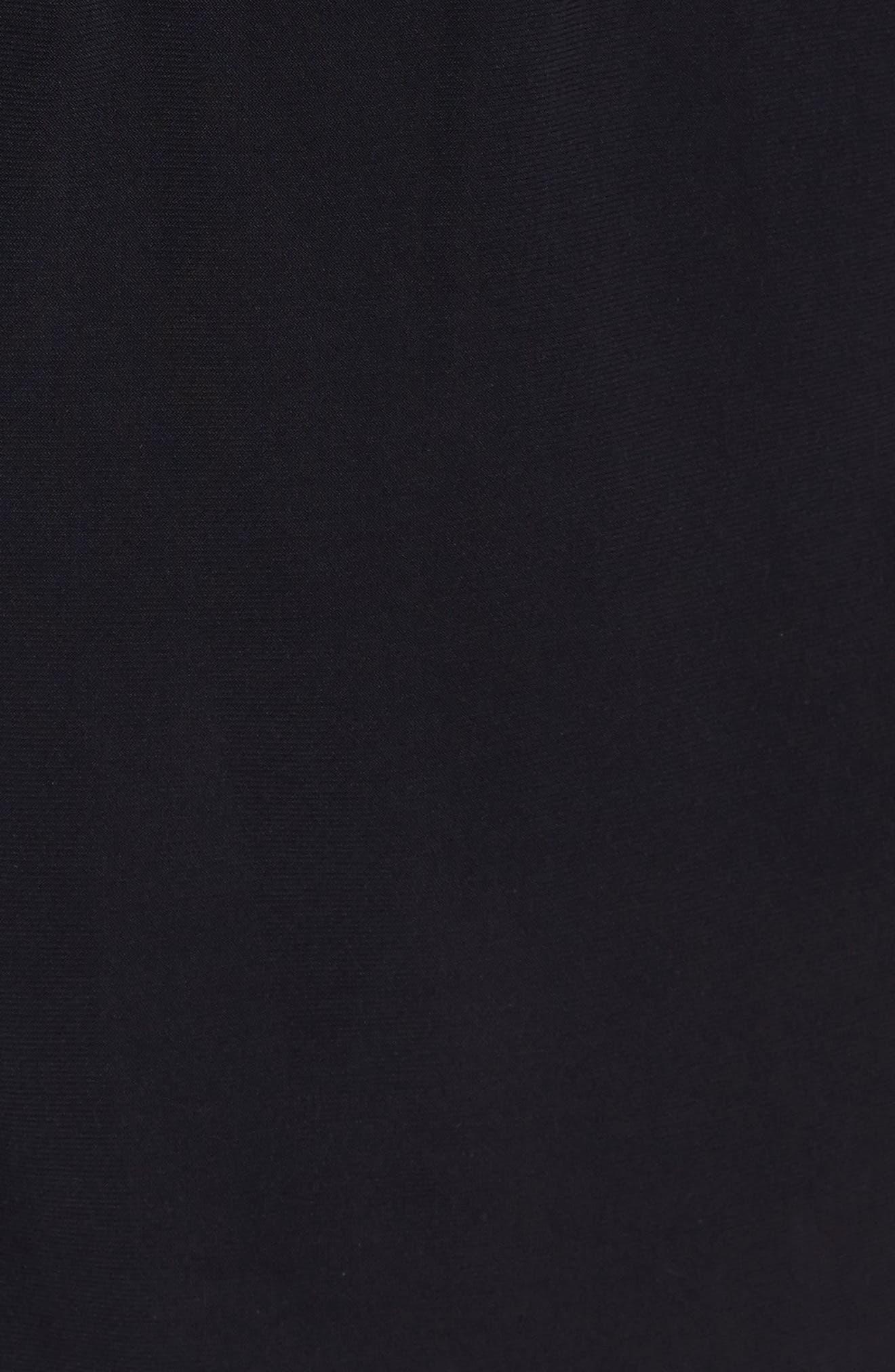 Bianca One-Piece Romper Swimsuit,                             Alternate thumbnail 5, color,                             Black