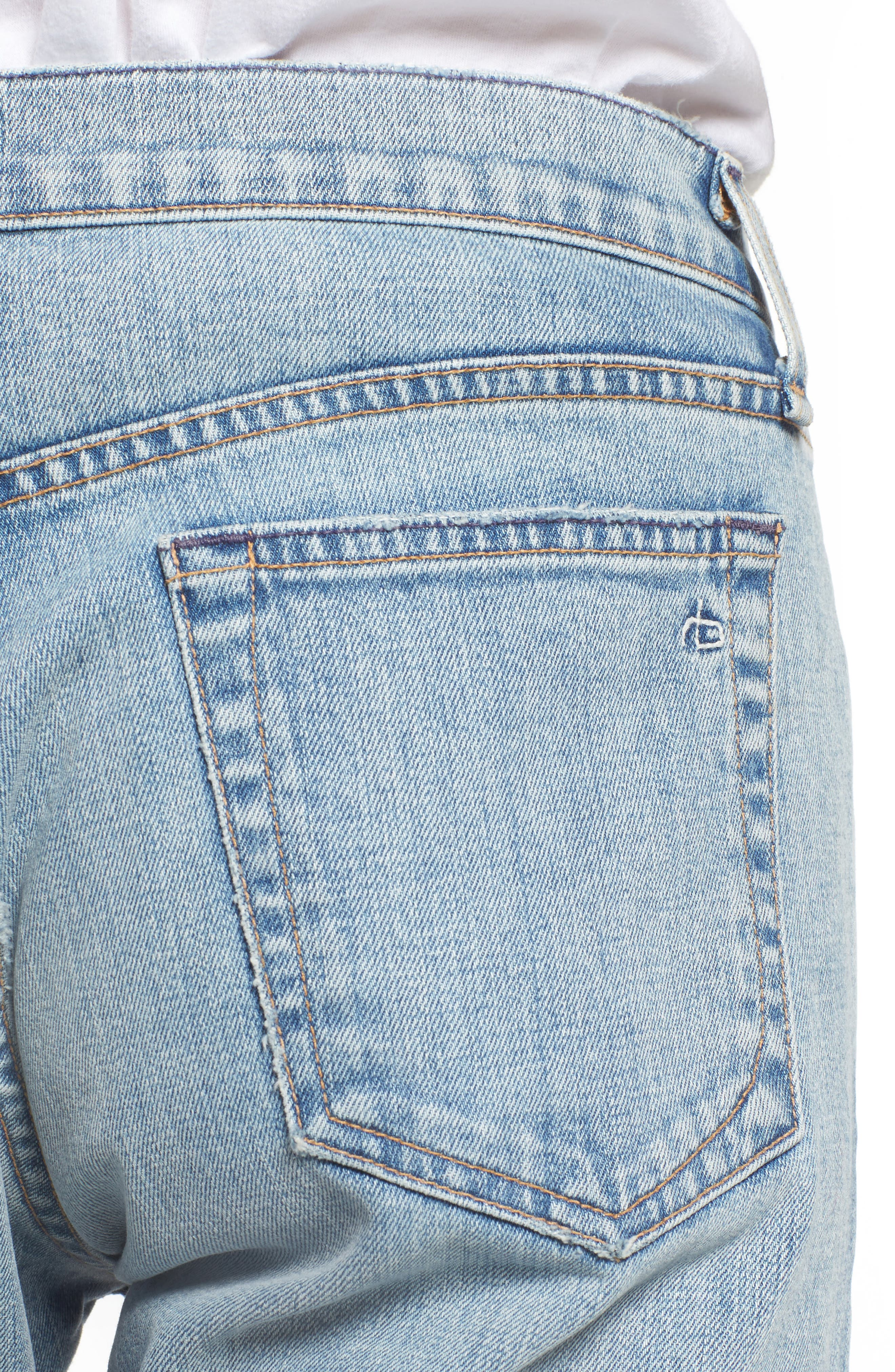 Alternate Image 4  - rag & bone Fit 1 Skinny Fit Jeans (Jameson with Holes)