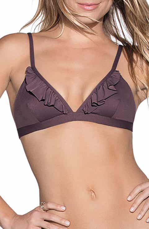 Maaji Fig Delightful Reversible Triangle Bikini Top