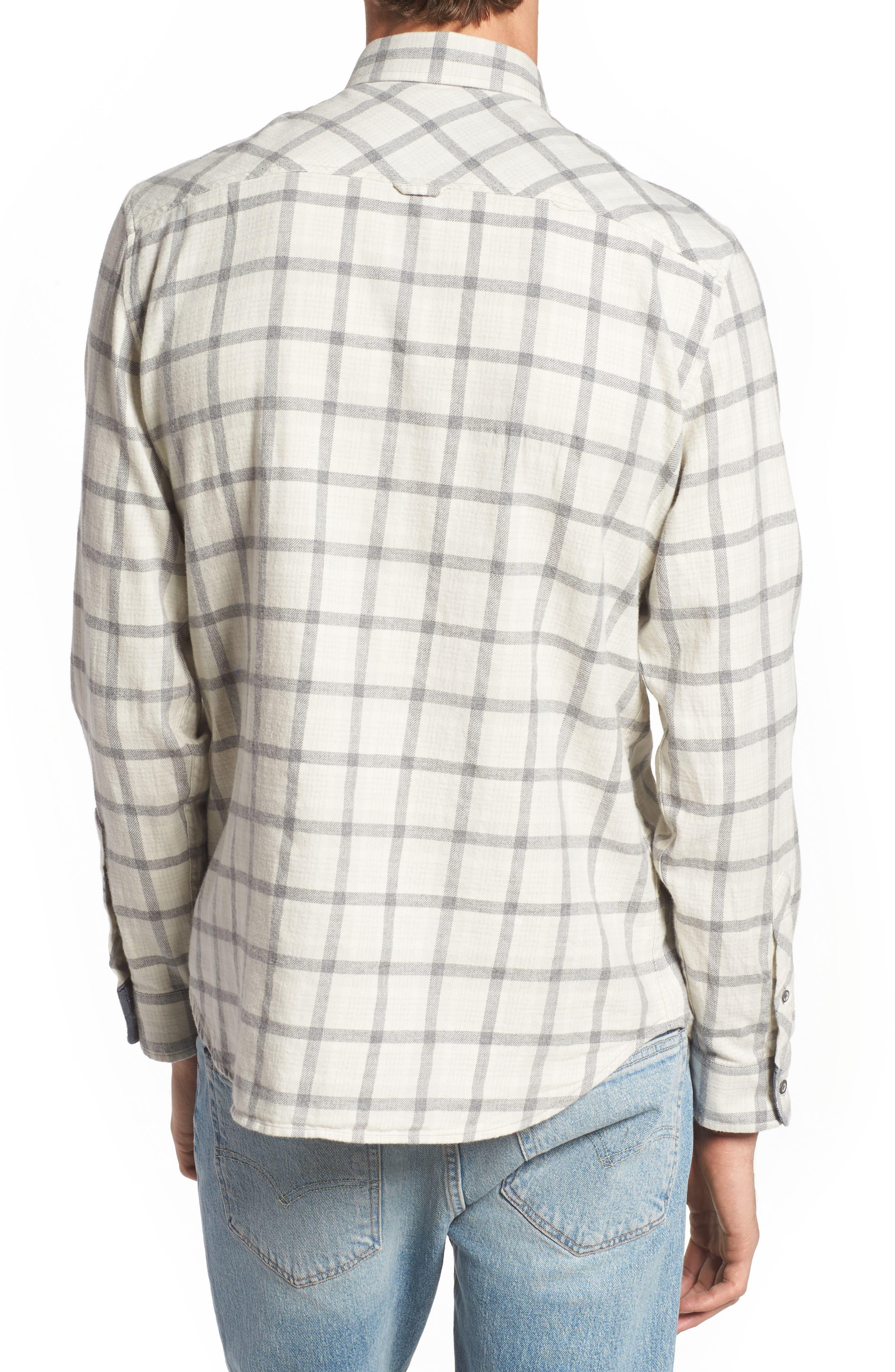 Grady Slim Fit Plaid Sport Shirt,                             Alternate thumbnail 2, color,                             Moon Glade/ Heather Grey