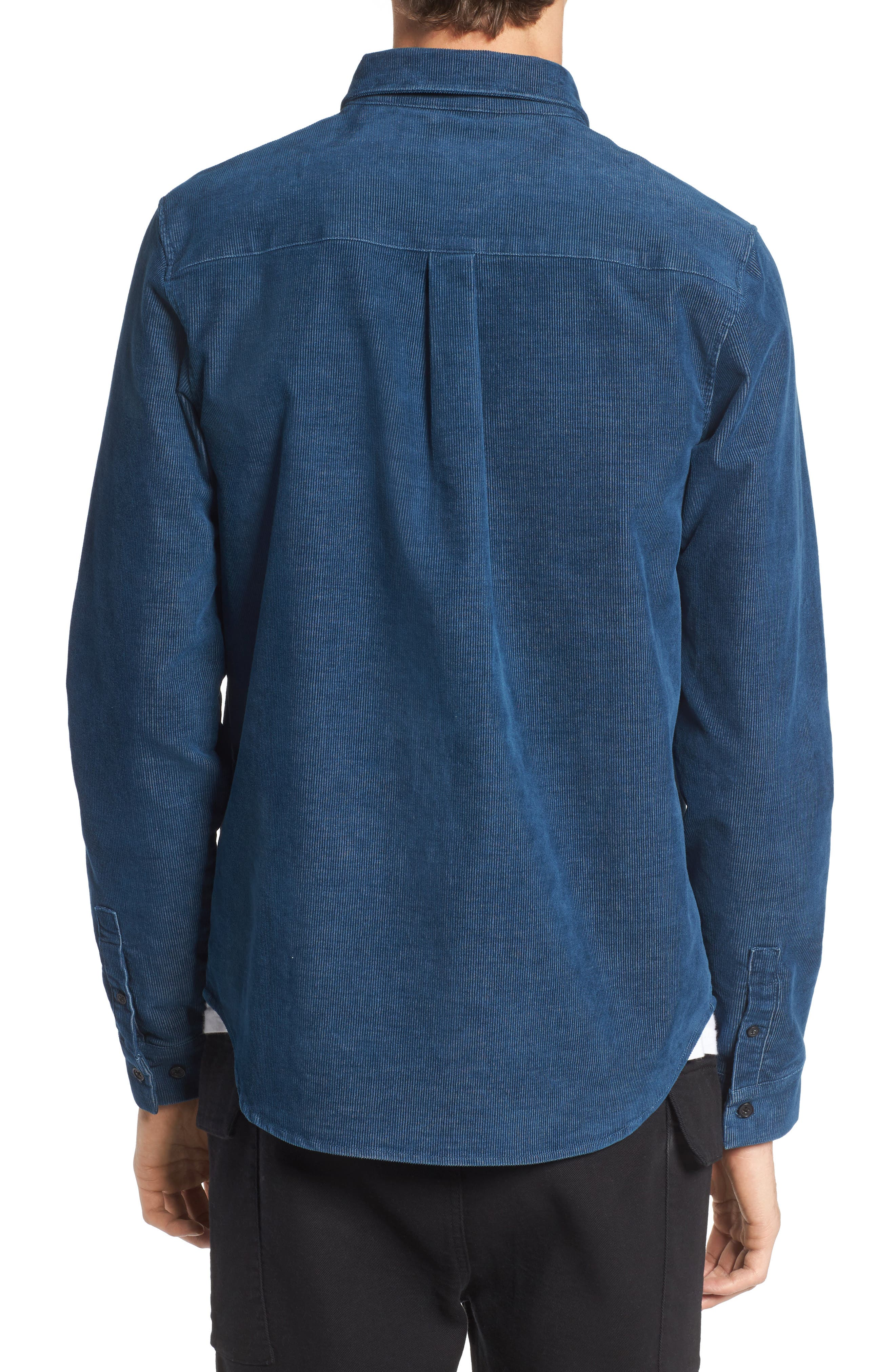 Cheriton Corduroy Shirt,                             Alternate thumbnail 2, color,                             Blue