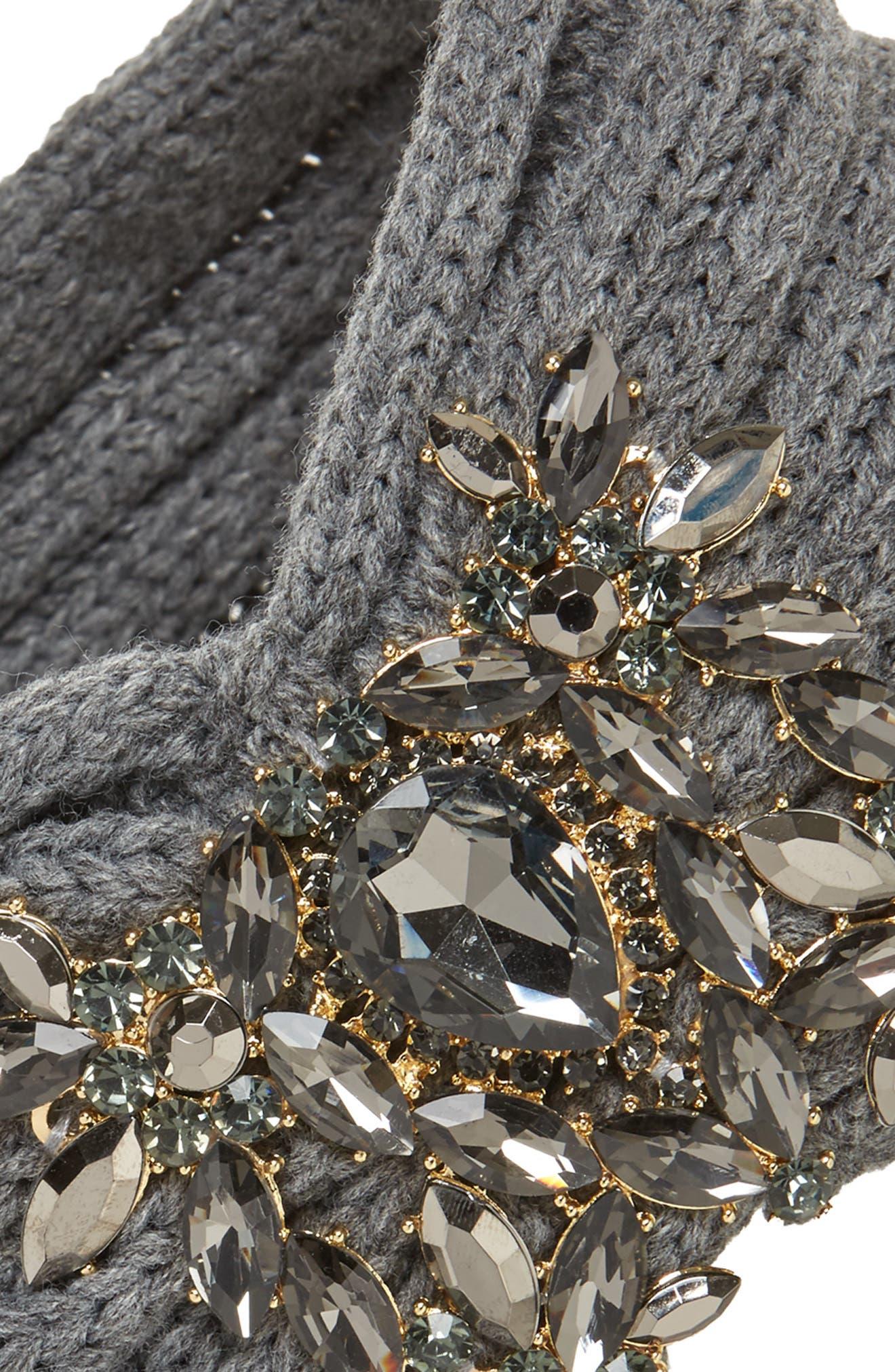 Jeweled Headband,                             Alternate thumbnail 2, color,                             Grey