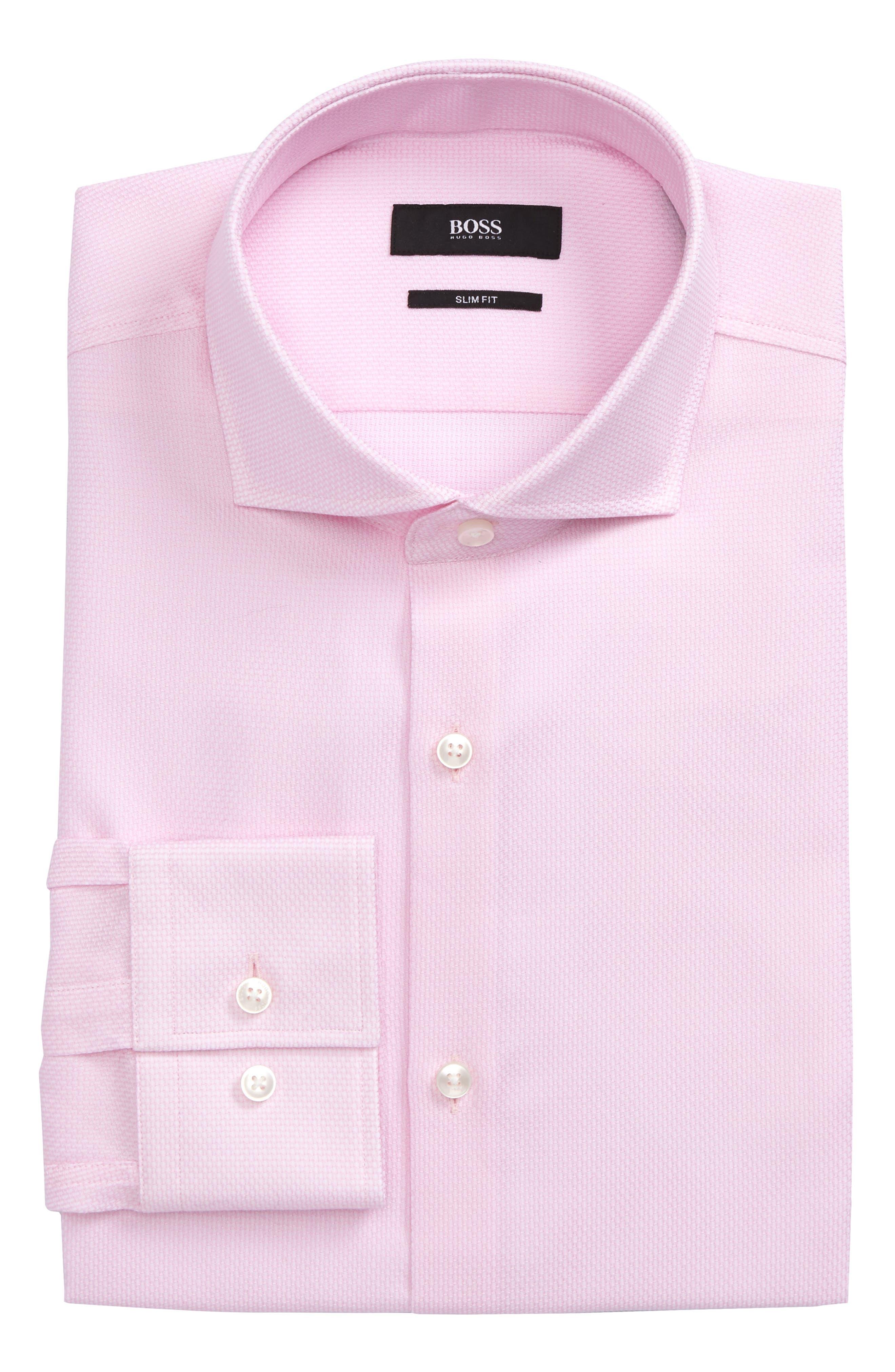 BOSS Jason Slim Fit Solid Dress Shirt