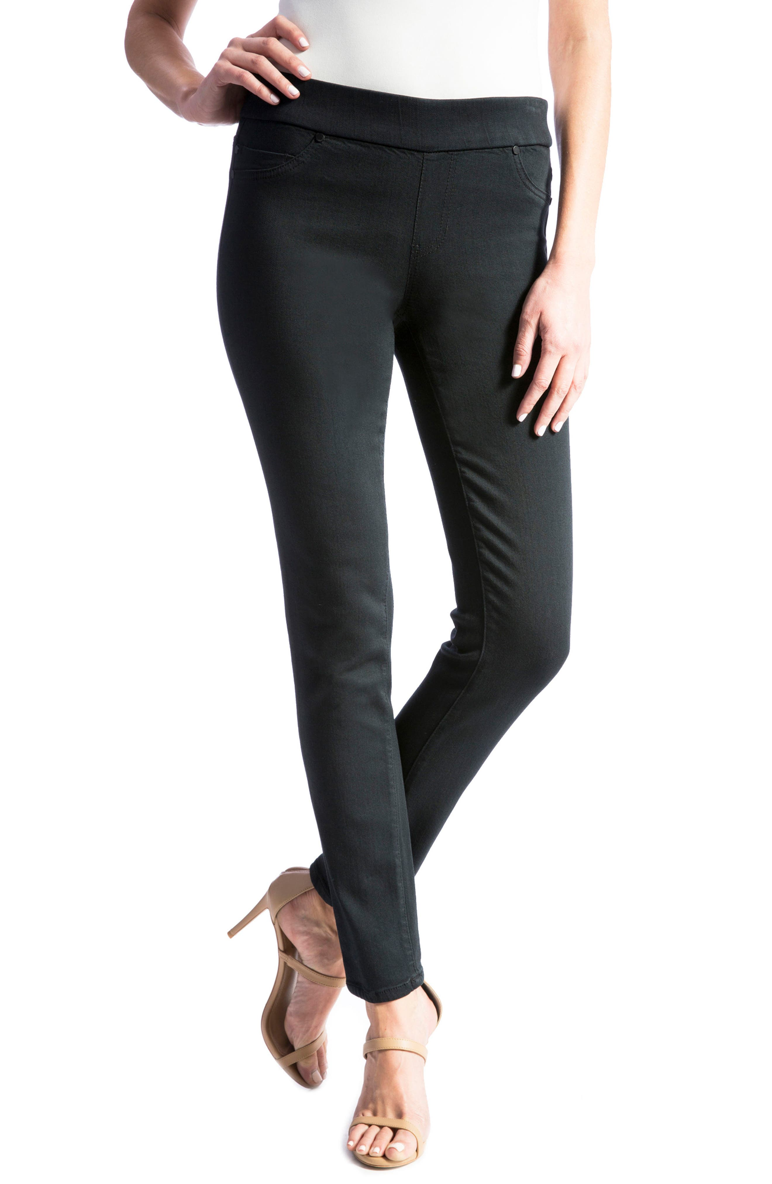 Jeans Company Sienna Mid Rise Soft Stretch Denim Leggings,                             Main thumbnail 1, color,                             Indigo Overdye Black