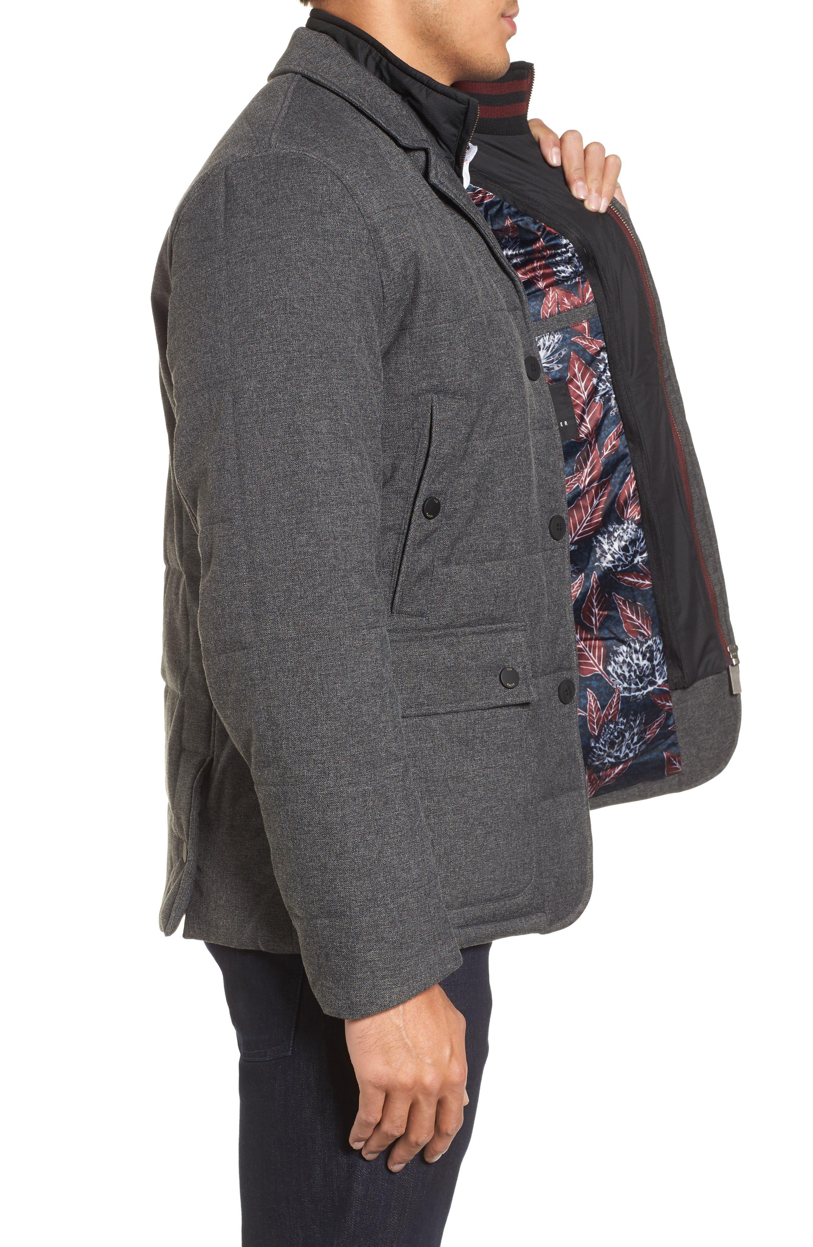 Alternate Image 3  - Ted Baker London Jaycie Inset Bib Quilted Jacket