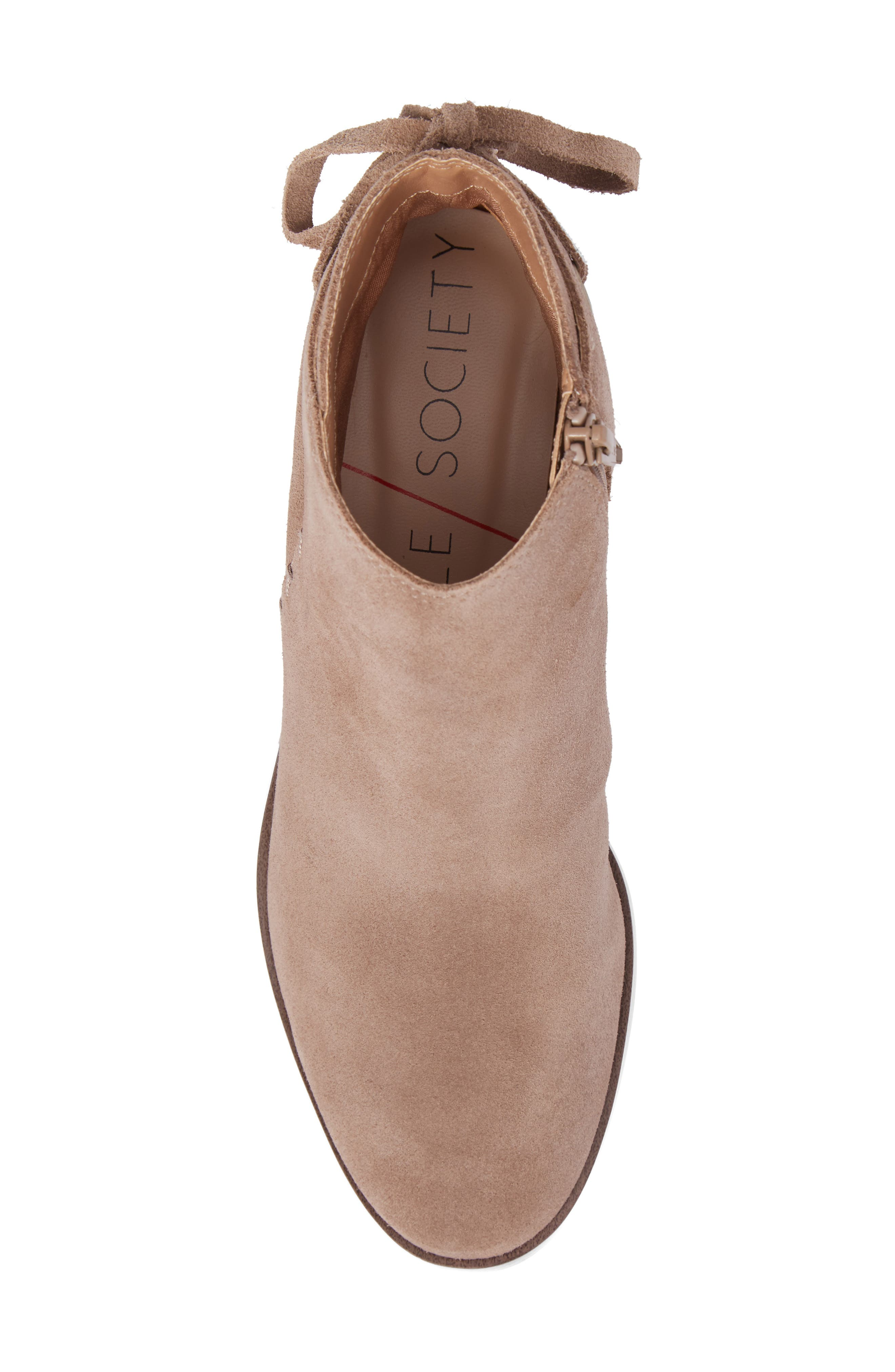Lachlan Tie Back Bootie,                             Alternate thumbnail 5, color,                             Taupe