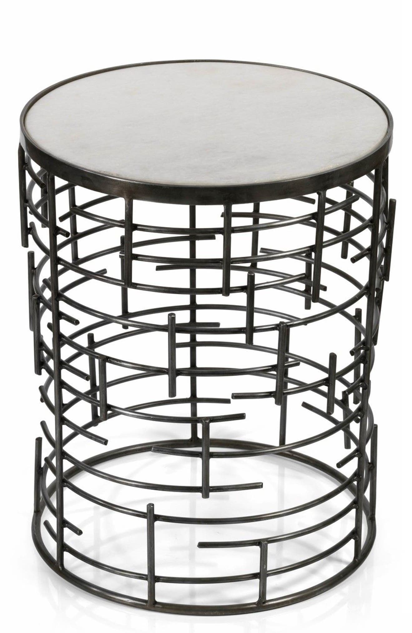 Barcelona Side Table,                         Main,                         color, White