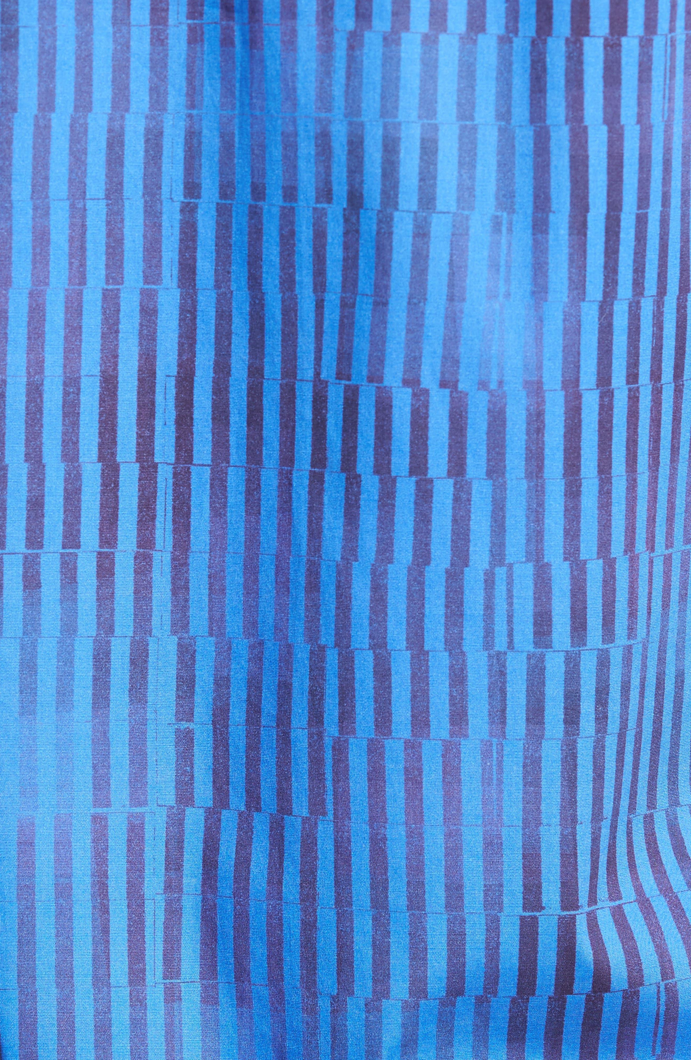 Bold FX Stripe Print Sport Shirt,                             Alternate thumbnail 5, color,                             Electric Blue