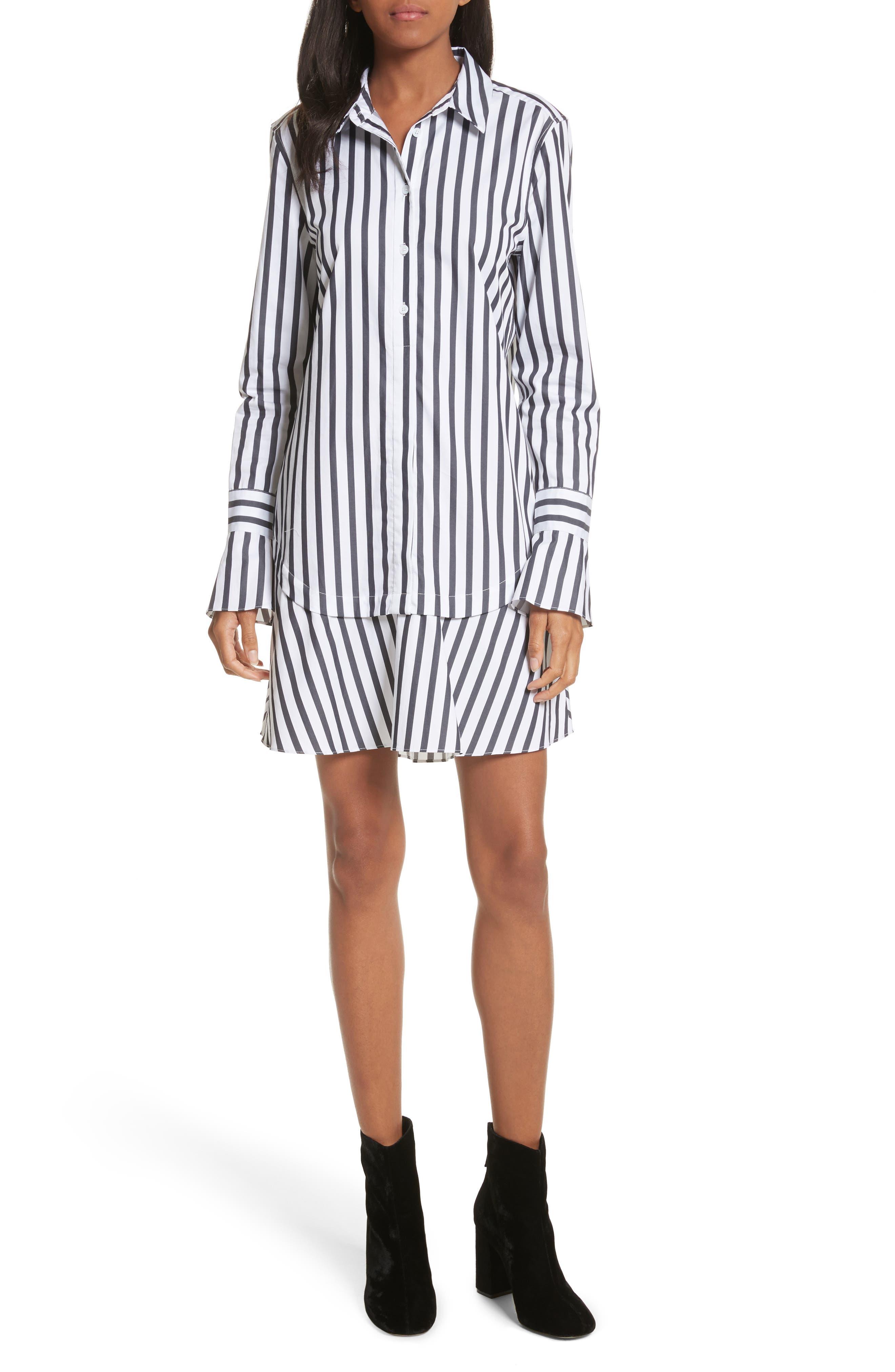 Equipment Daphine Stripe Cotton Shirtdress