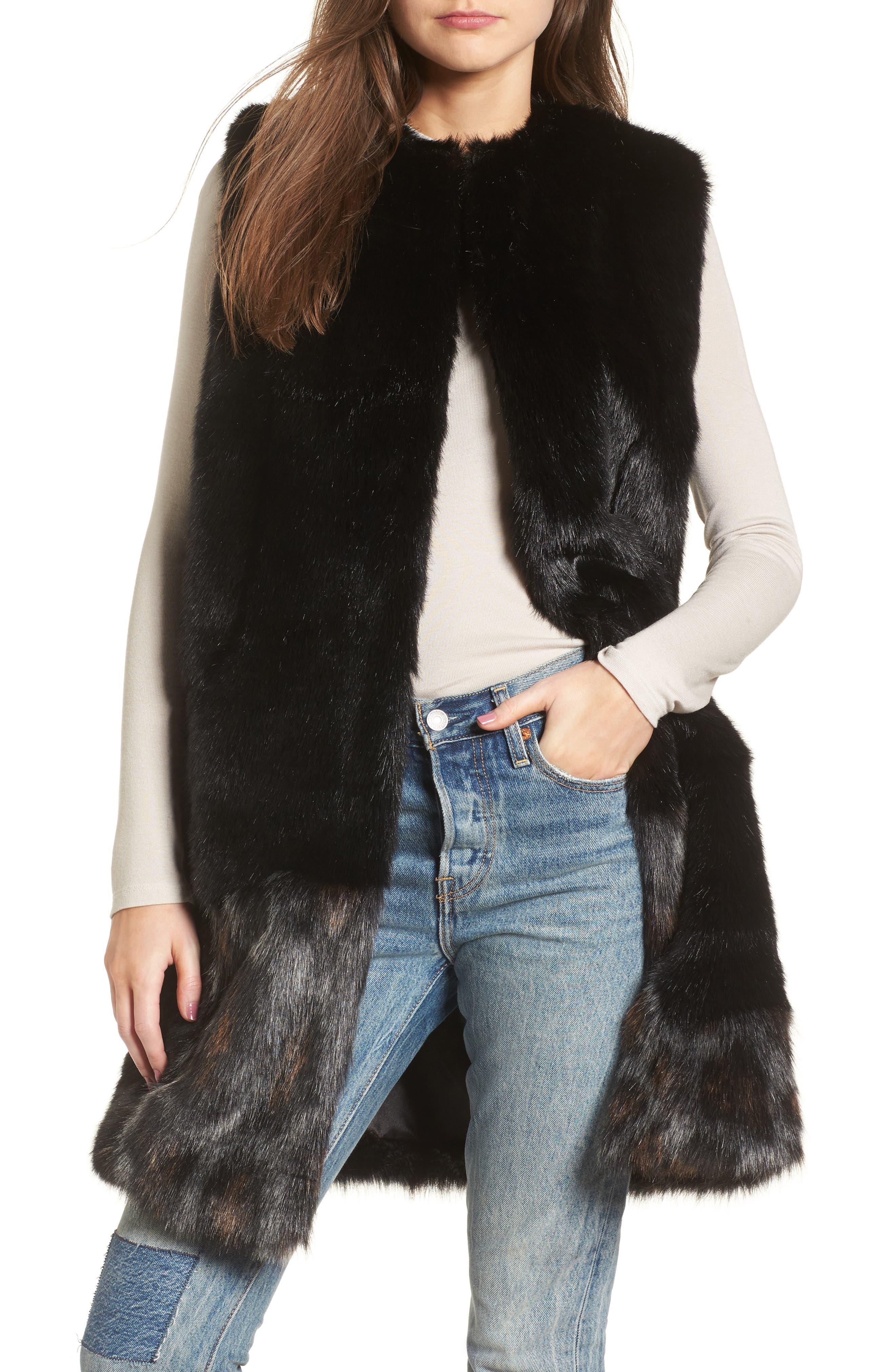 Heurueh Julie Patchwork Faux Fur Vest
