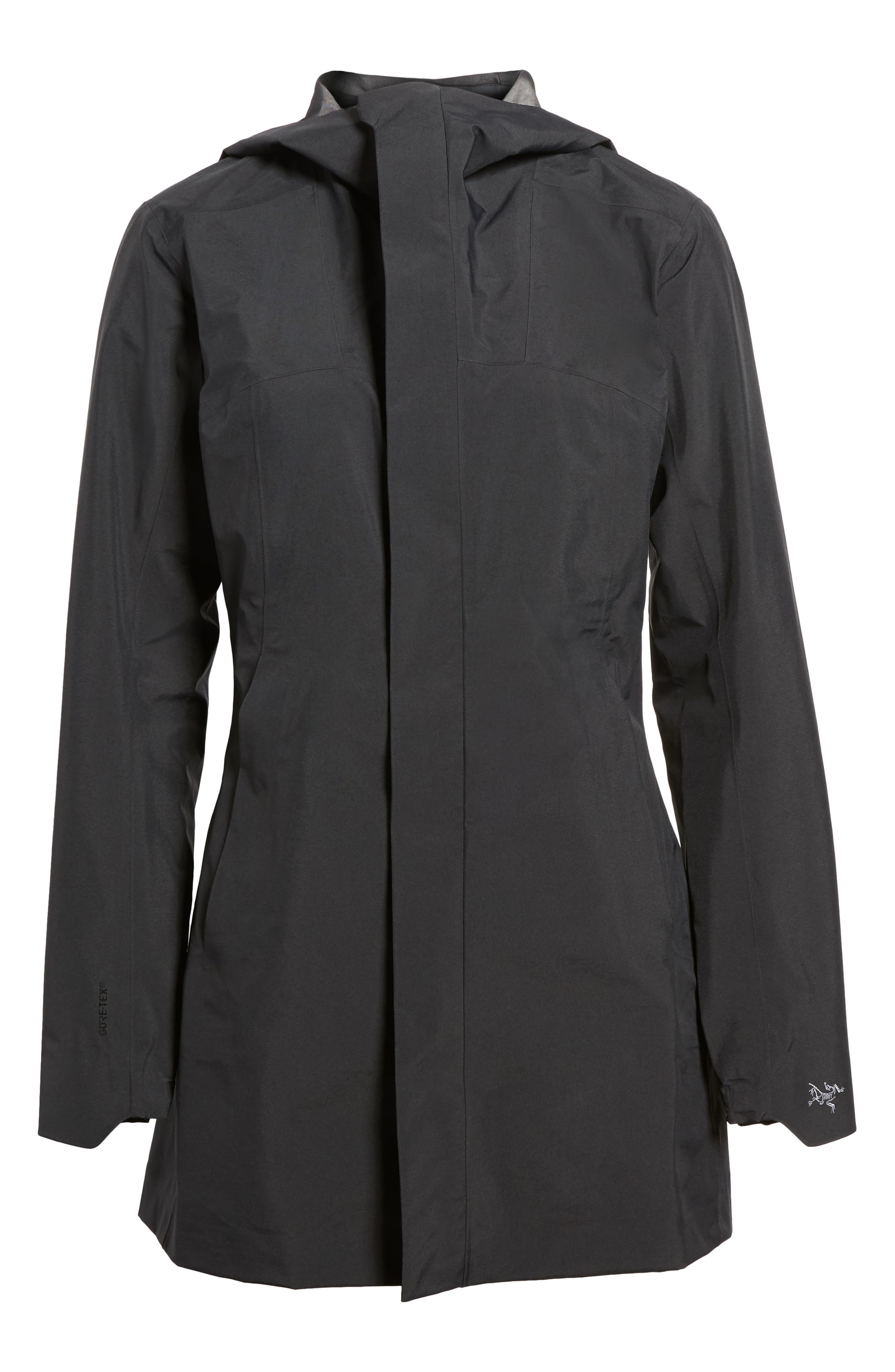 Codetta Waterproof Relaxed Fit Gore-Tex<sup>®</sup> 3L Rain Jacket,                         Main,                         color, Black