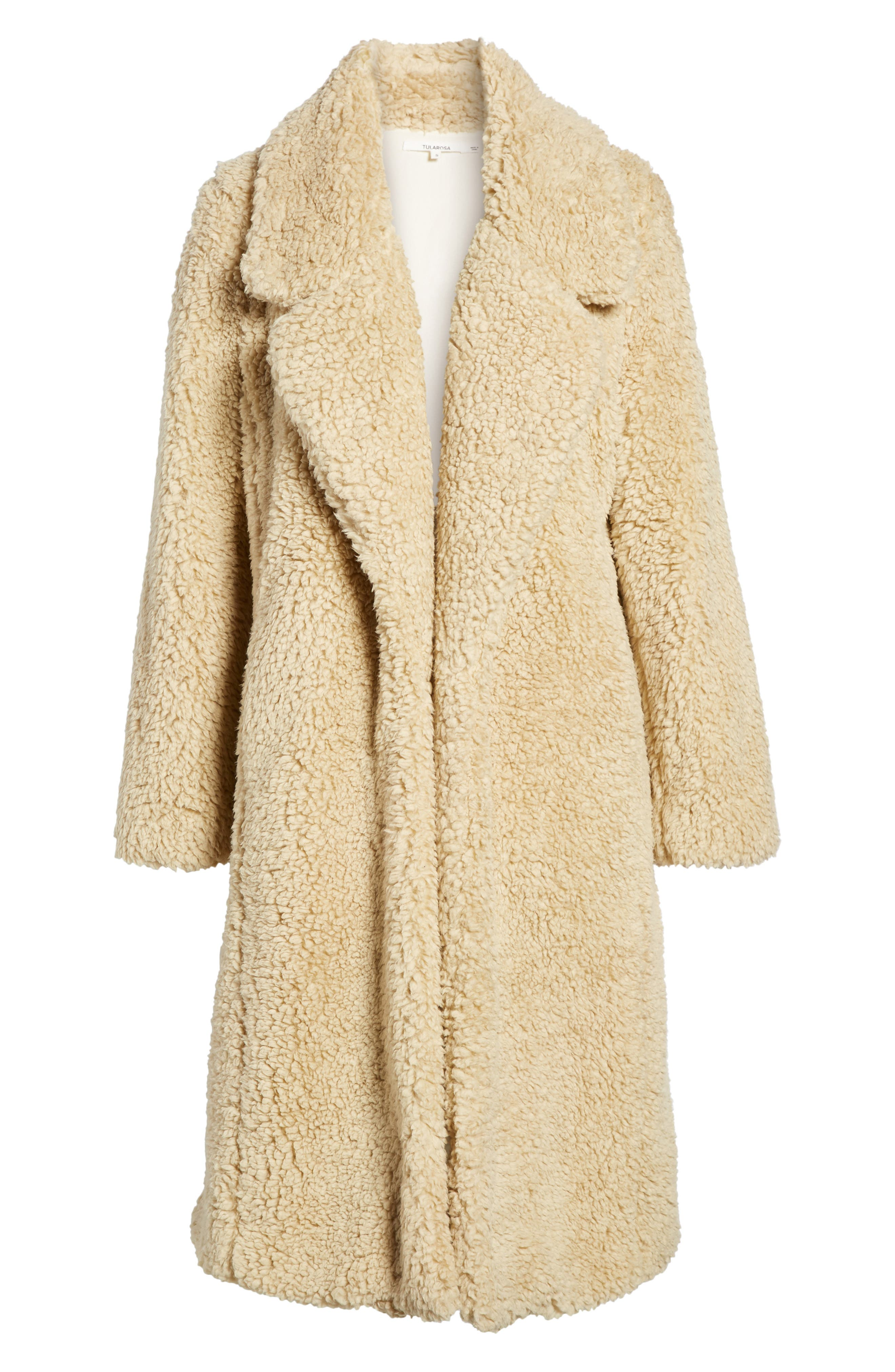 Violet Teddy Bear Coat,                             Alternate thumbnail 6, color,                             Beige
