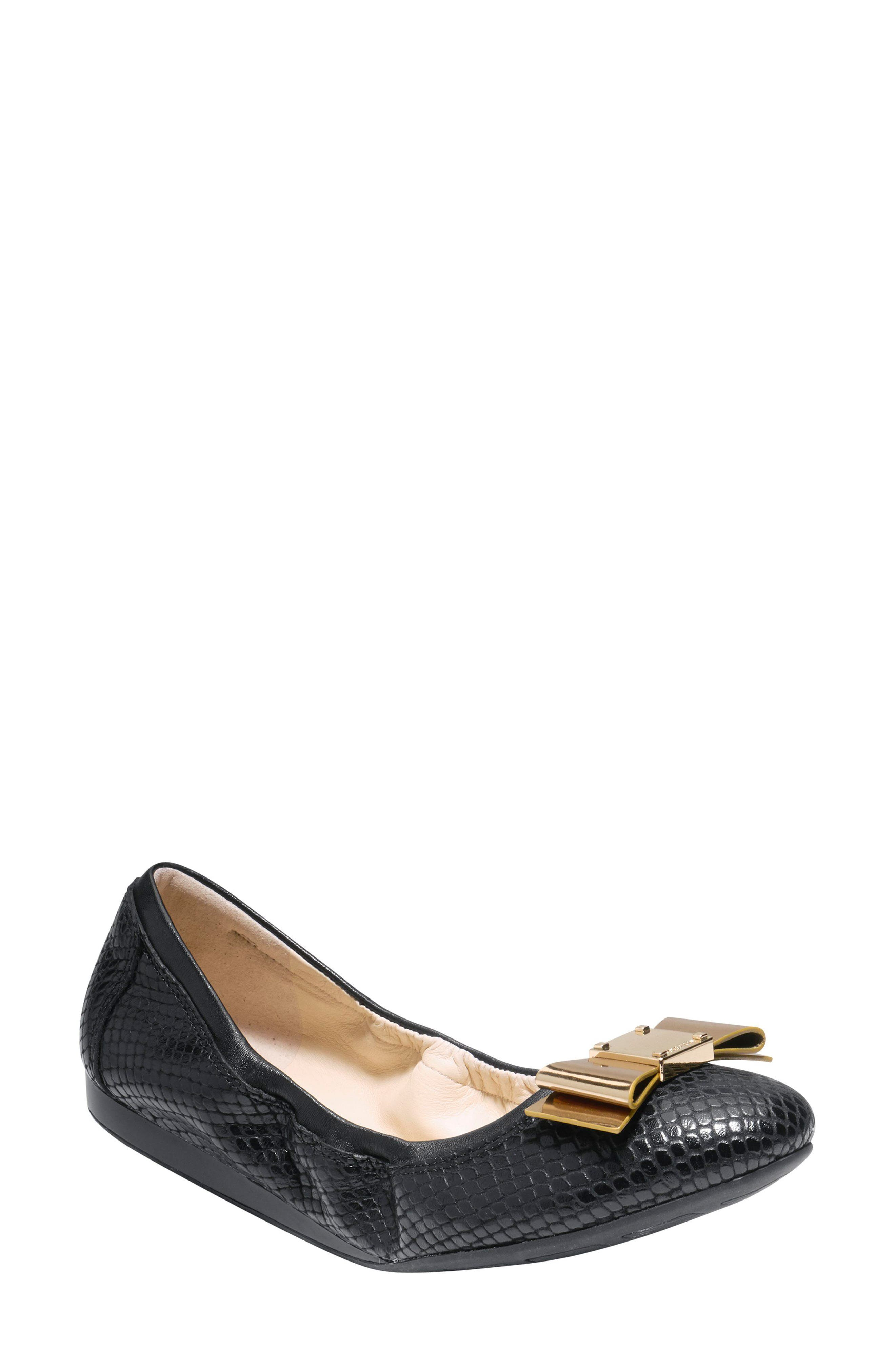 Alternate Image 1 Selected - Cole Haan 'Tali' Bow Ballet Flat (Women)