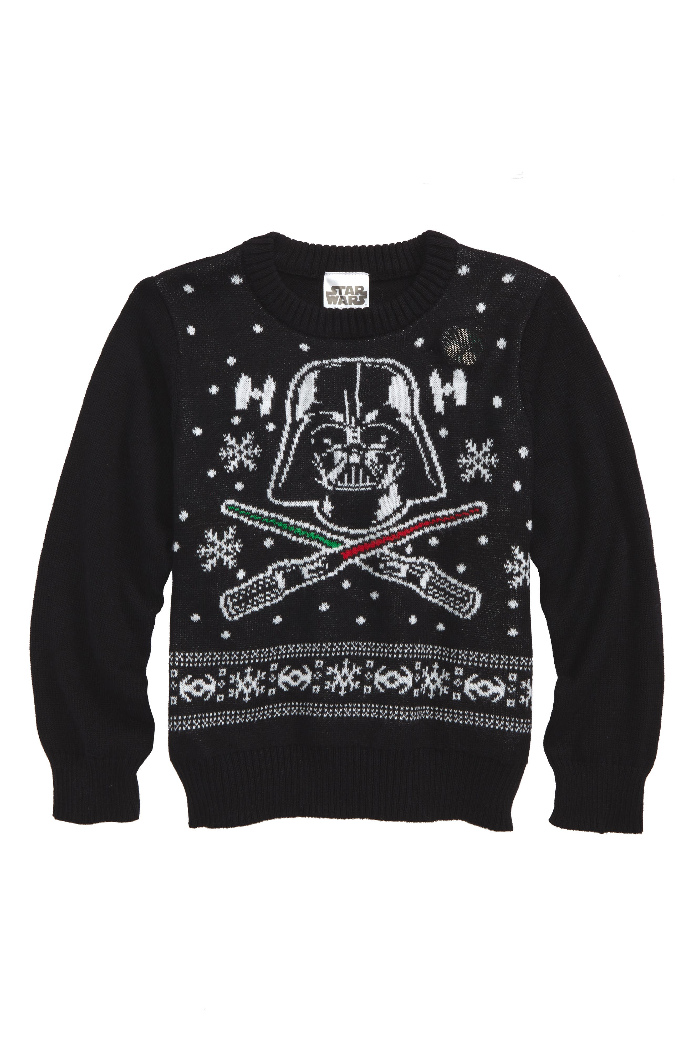 Jem Star Wars™ - Darth Vader Musical Holiday Sweater (Toddler Boys, Little Boys & Big Boys)