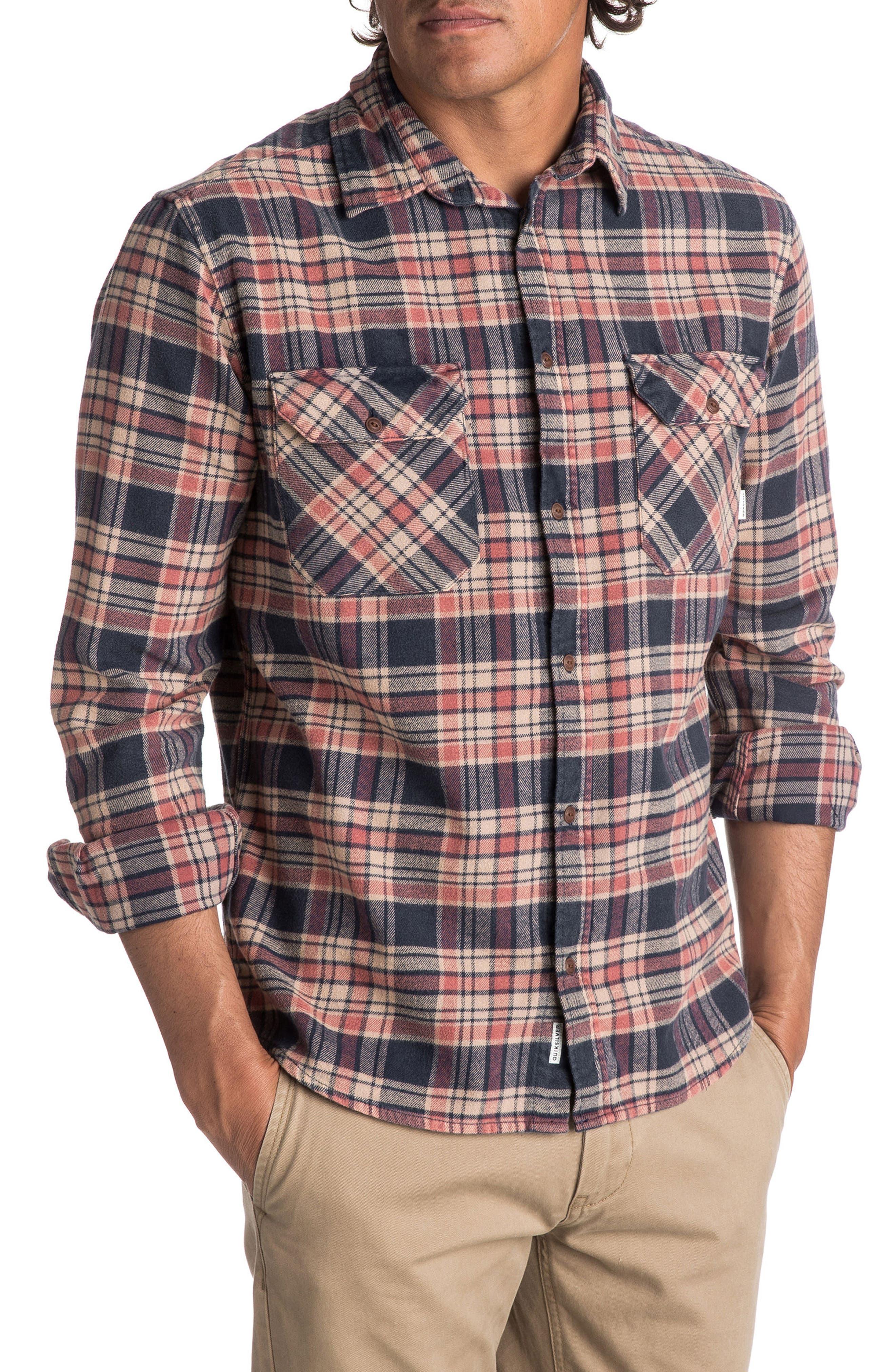 Alternate Image 1 Selected - Quiksilver Tangloop Plaid Flannel Shirt